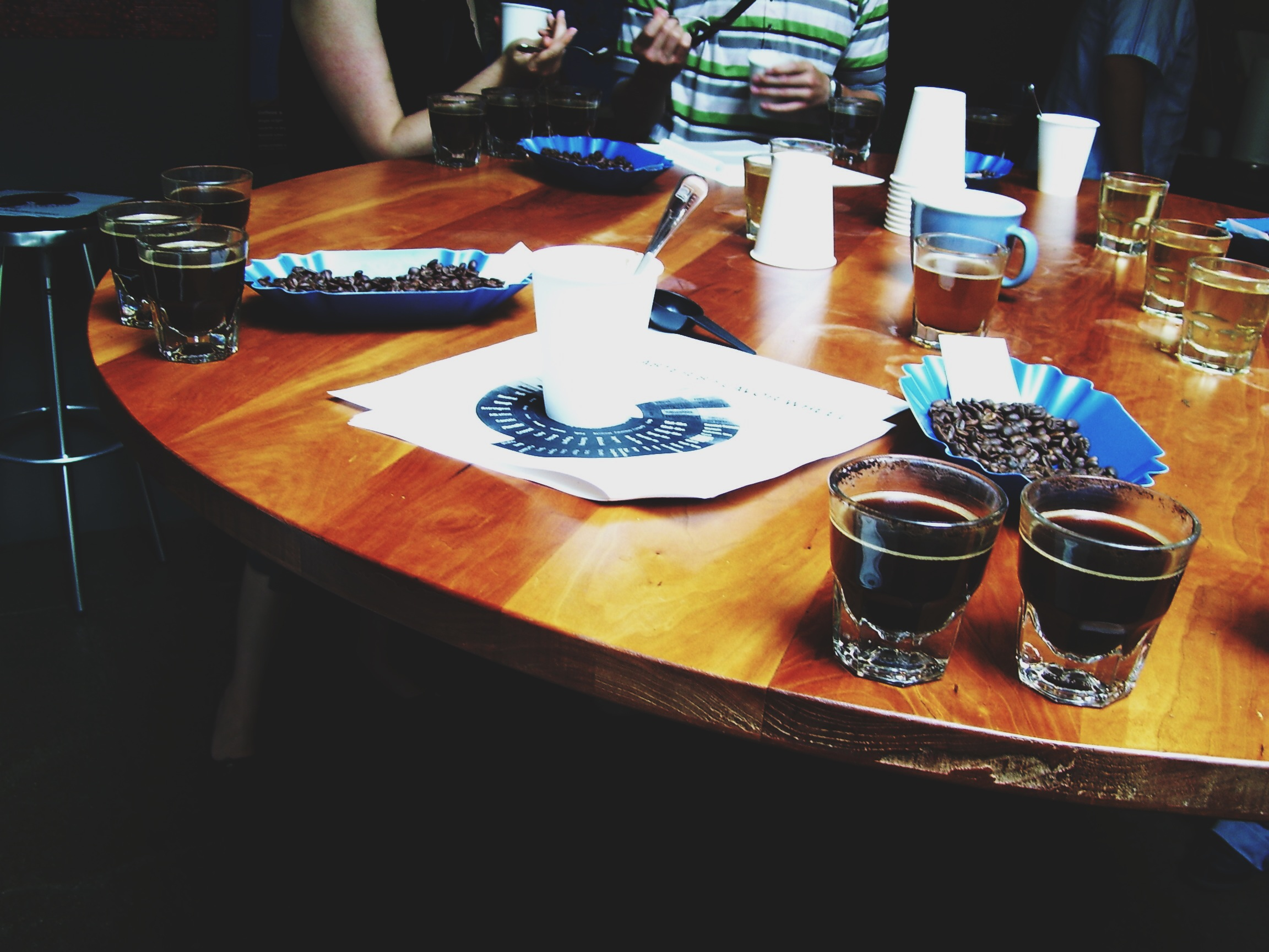We also had about three rounds of tasting or, as is called in the coffee world, cuppings.