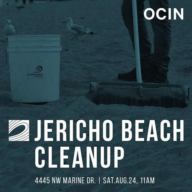 I don't know about you, but we can't wait for our next beach cleanup! . Join us for our last beach cleanup of the summer, Saturday August 24th at Jericho Beach, co-hosted with our friends at @ocin . What are you waiting for- click the link in the bio for more information, and to sign up!