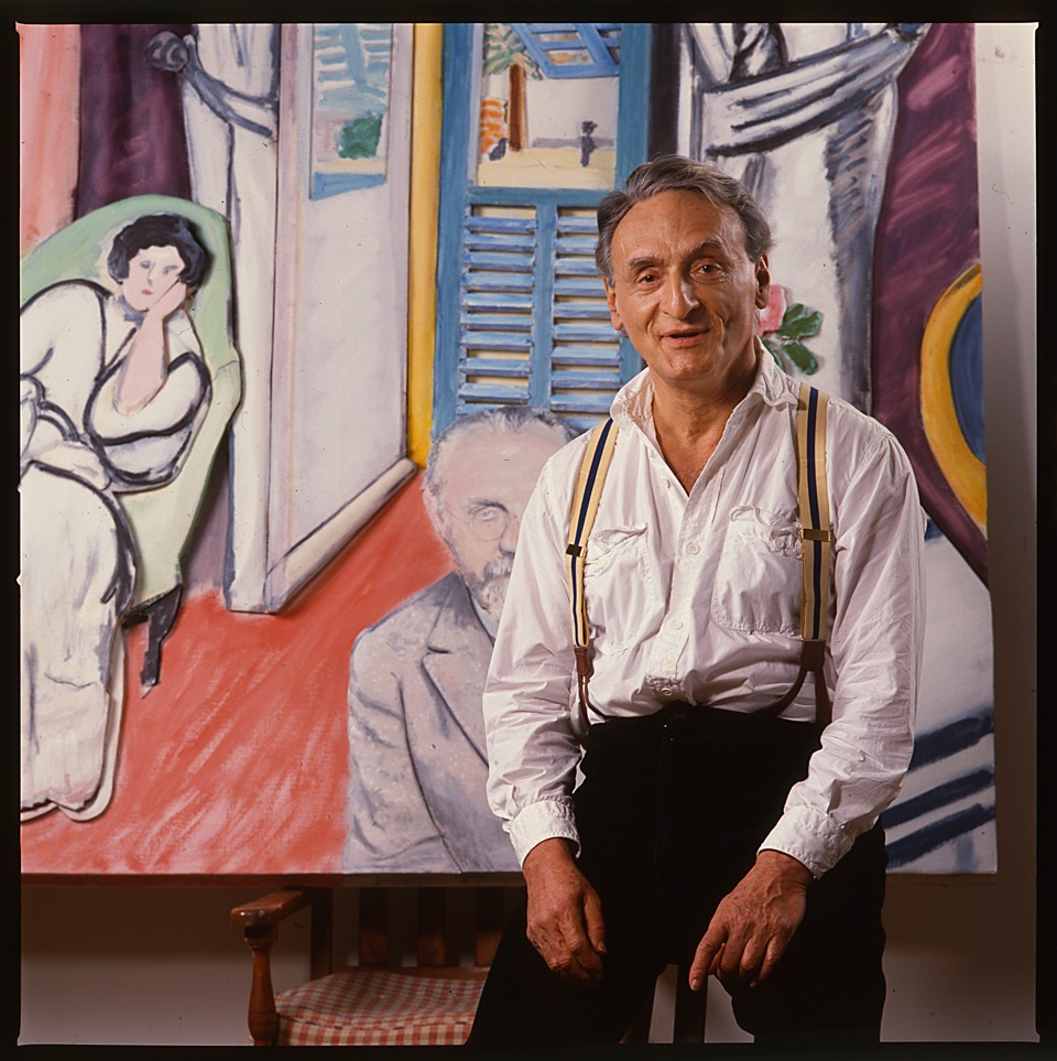 Larry Rivers with a Rivers of Matisse in a Matisse