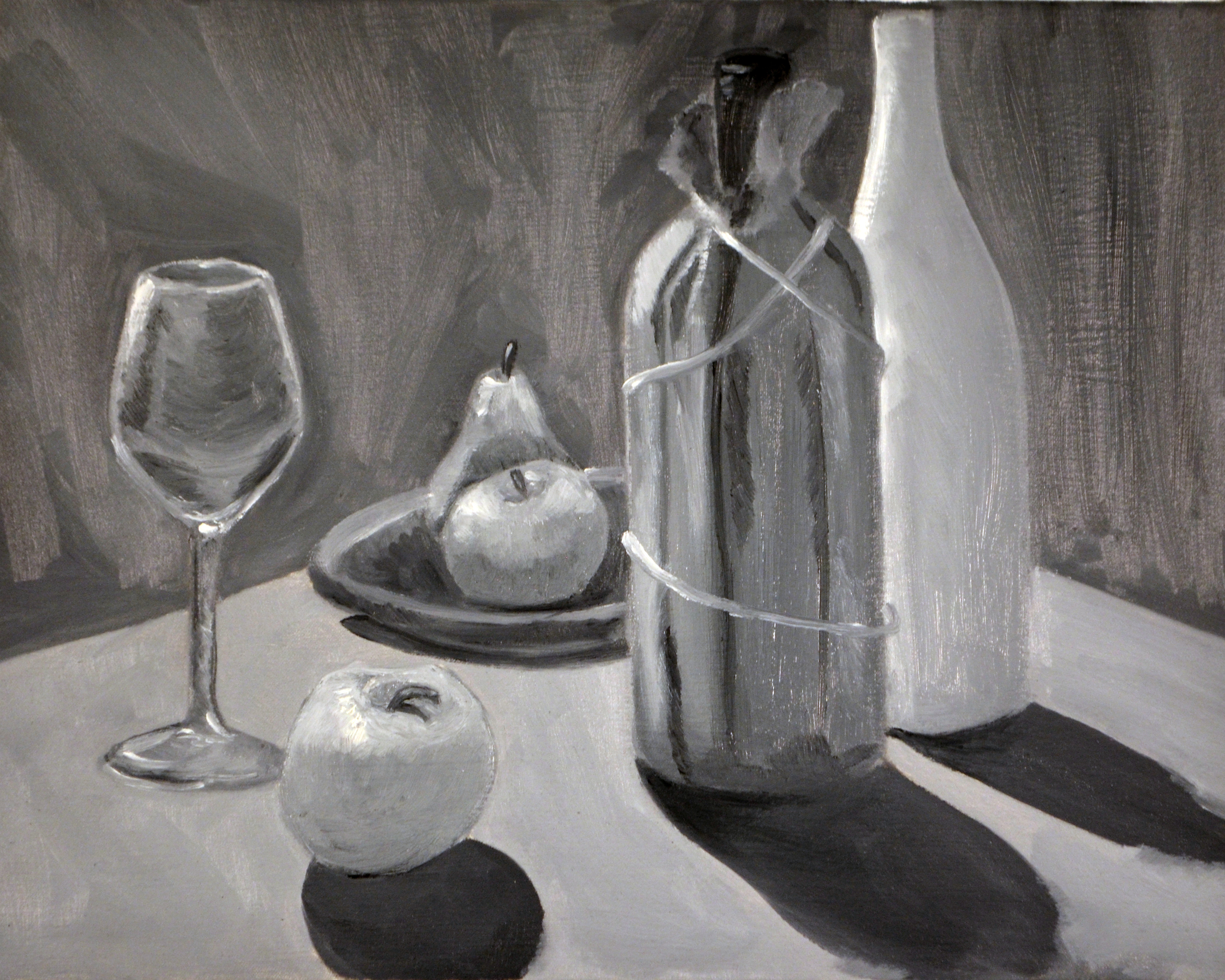 Highschool Value Study of a still Life