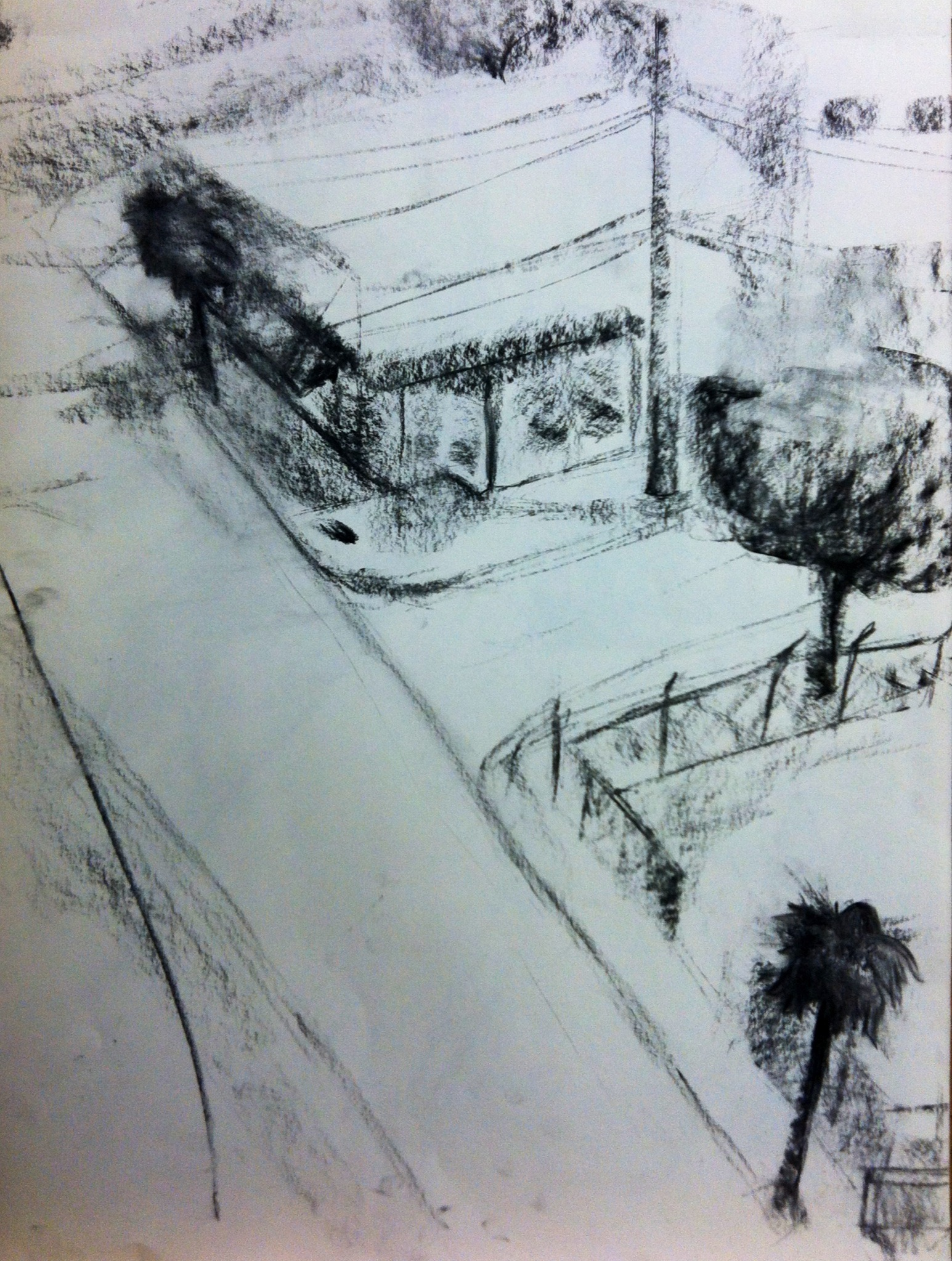 Highschool Plein Air Perspective Study
