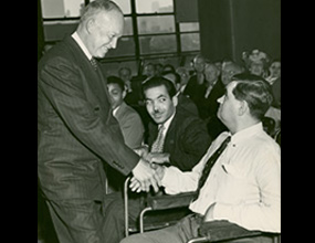 President Eisenhower visits ICD in 1948