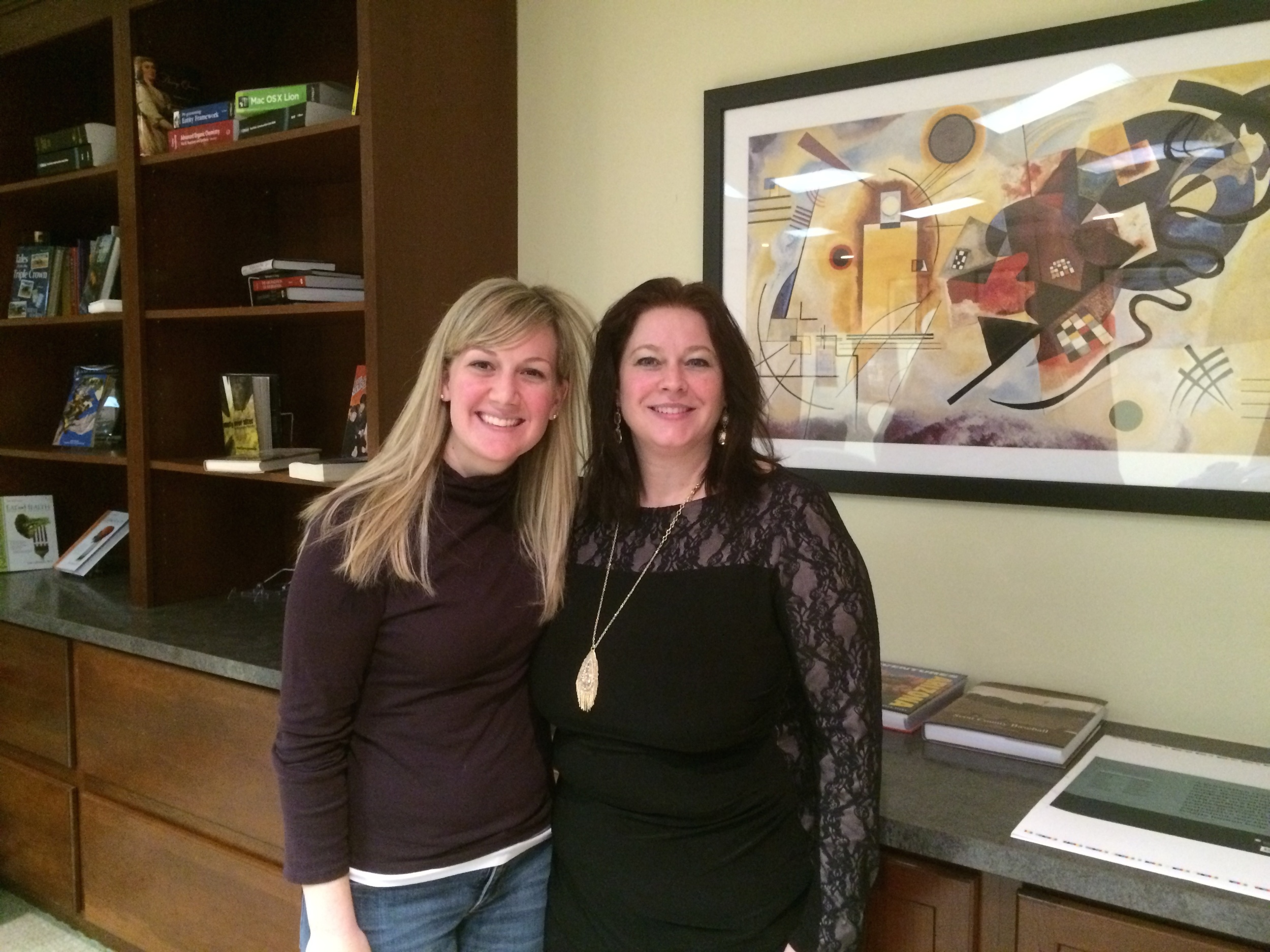 Lisa Cairn Santoro, Illustrator and Deborrah Popkey, Sales Representative at Sheridan Books, Inc.