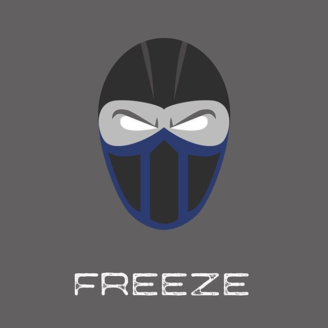 For the next #inktober design, I did Sub-Zero from Mortal Kombat for the prompt FREEZE 🥶
