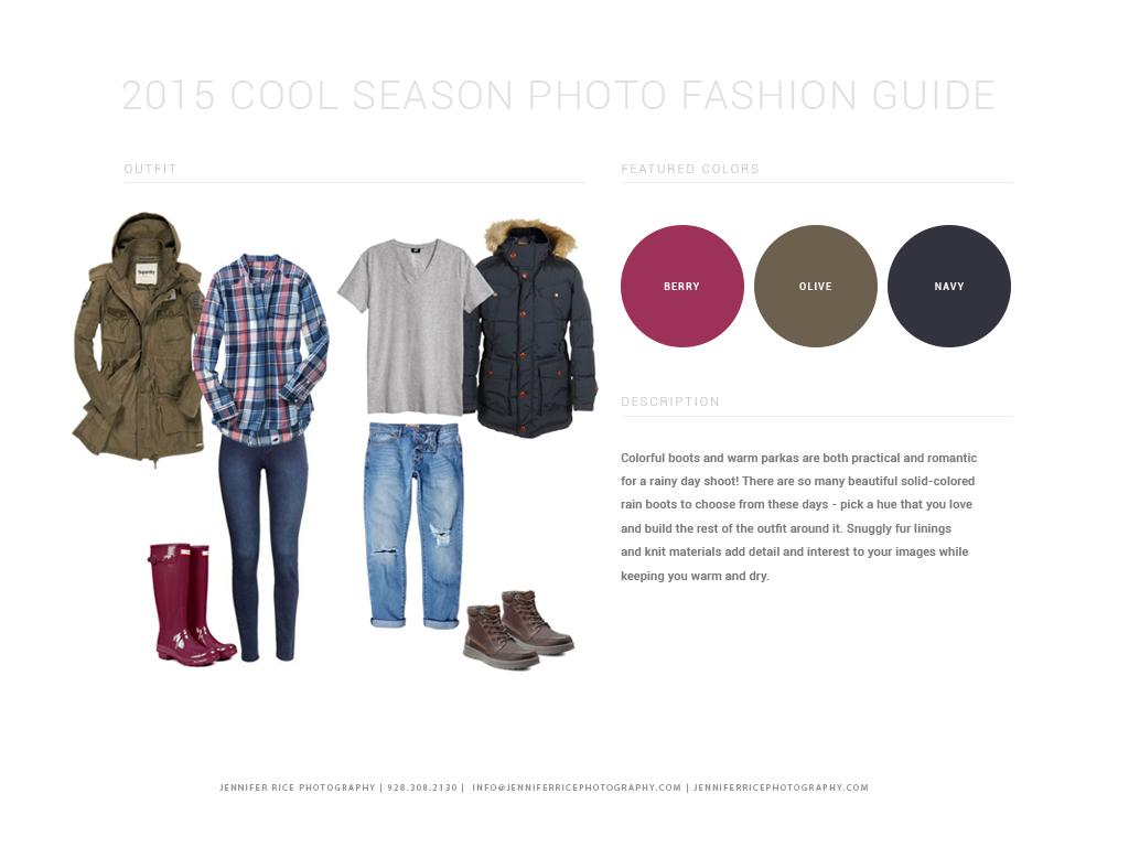 2015 Cool Season Photo Fashion Guide