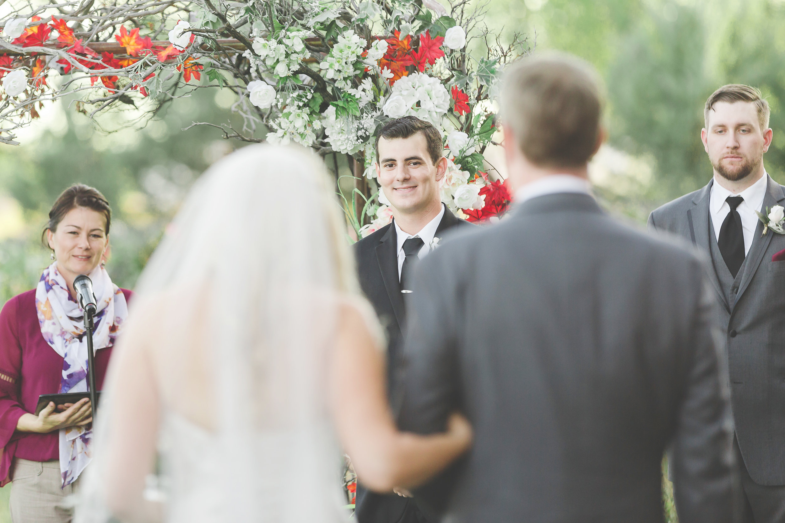 traditional first look at ceremony
