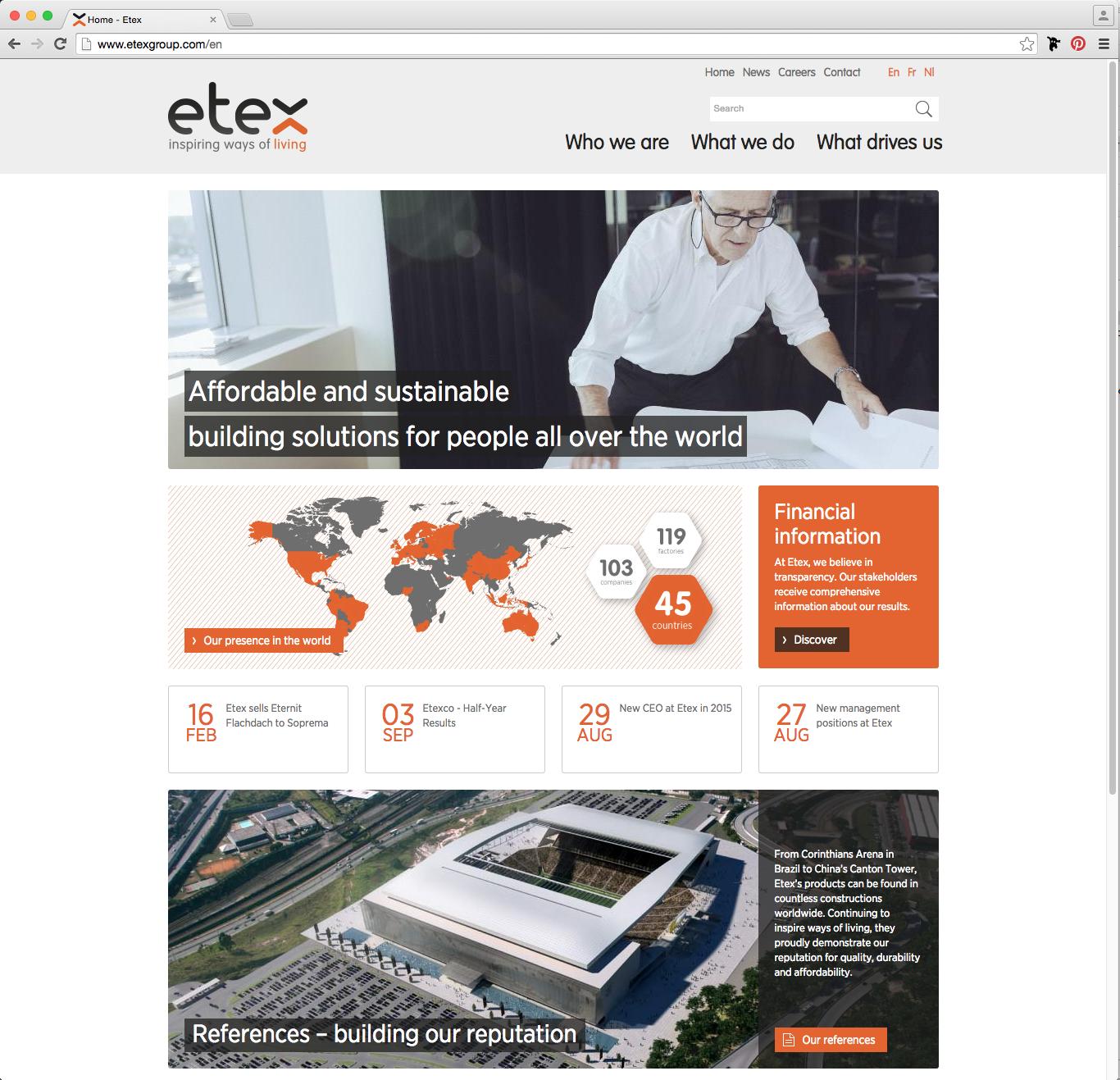 Etex website 2015