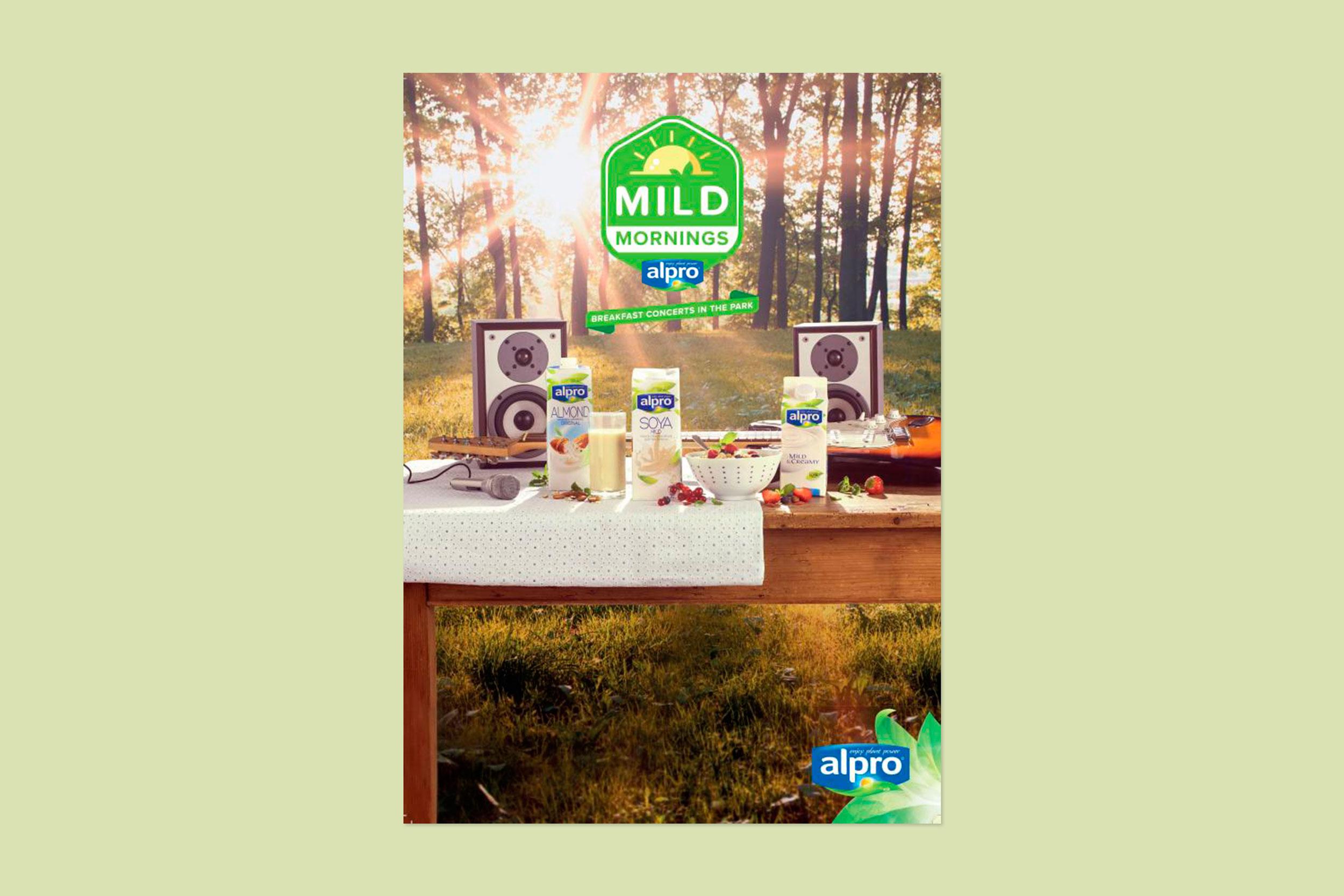Alpro Mild Mornings advertisement