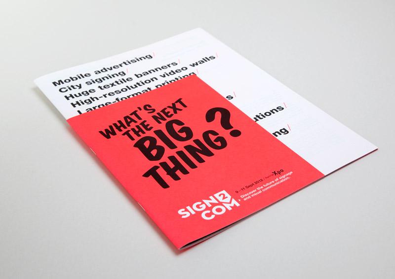 Sign2com 2012 brochure cover
