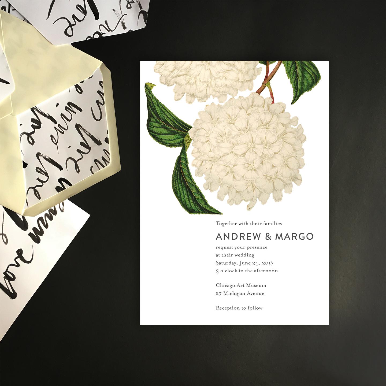 White hydrangea invite with env liners.jpg