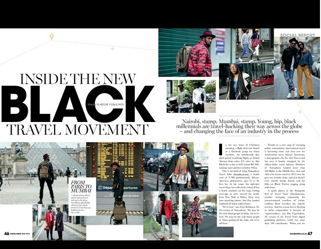 MARIE CLAIRE SOUTH AFRICA: Inside the New Black Travel Movement                    April 2015