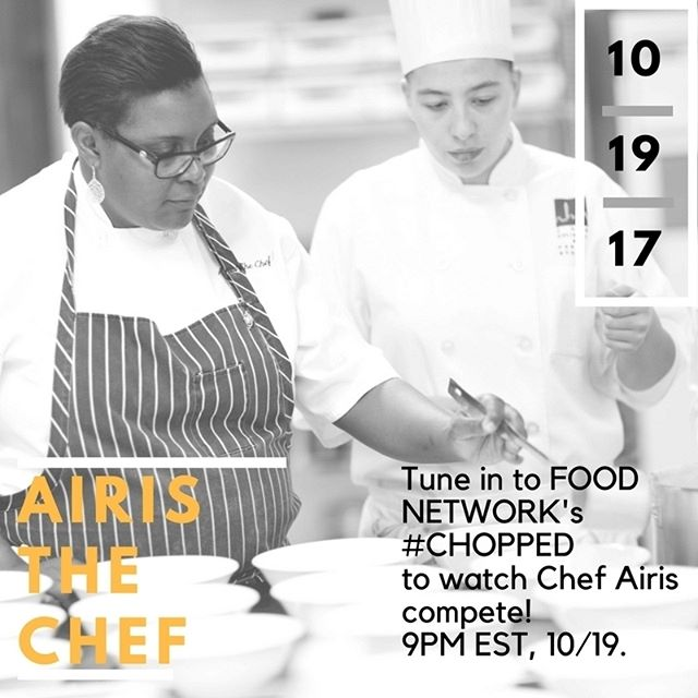 #nowwatching Nomadness' resident chef @airisthechef on #Chopped. Turn to the @foodnetwork right now and watch. Join us in the #Tribe as we cheer on our favorite chef. Go Airis. They better not chop you.
