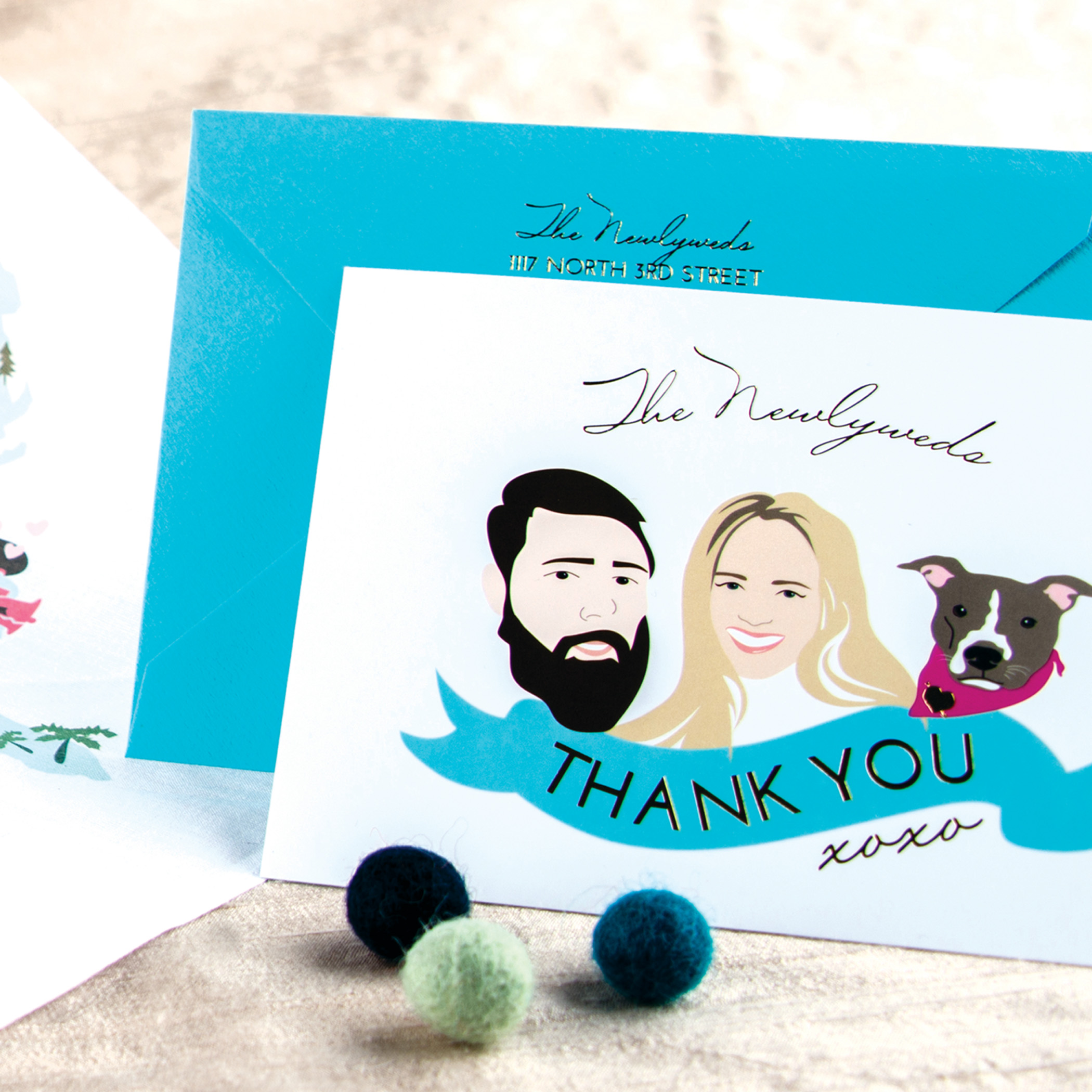 Smoochie Paper Thank You Card