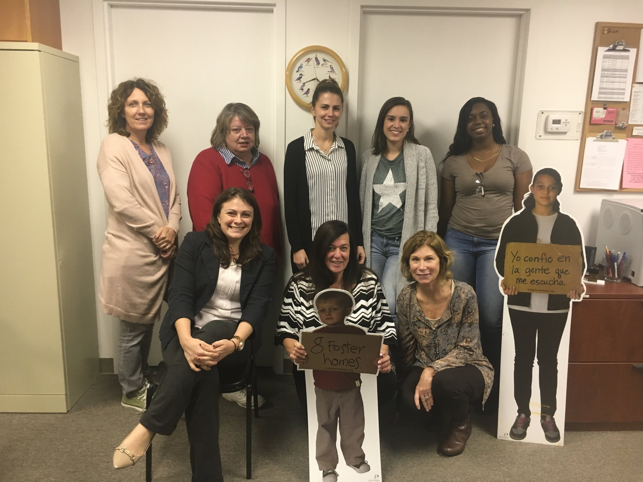 Last week, eleven people (a few were camera shy) completed the CASA volunteer training. Next up, they will be sworn in by the family court judge, and then Passaic County children in foster care will officially have 11 new advocates.  Congrats, everyone!