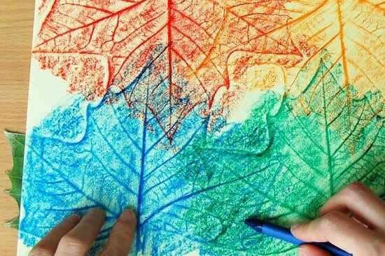 Leaf coloring, courtesy of First Palette