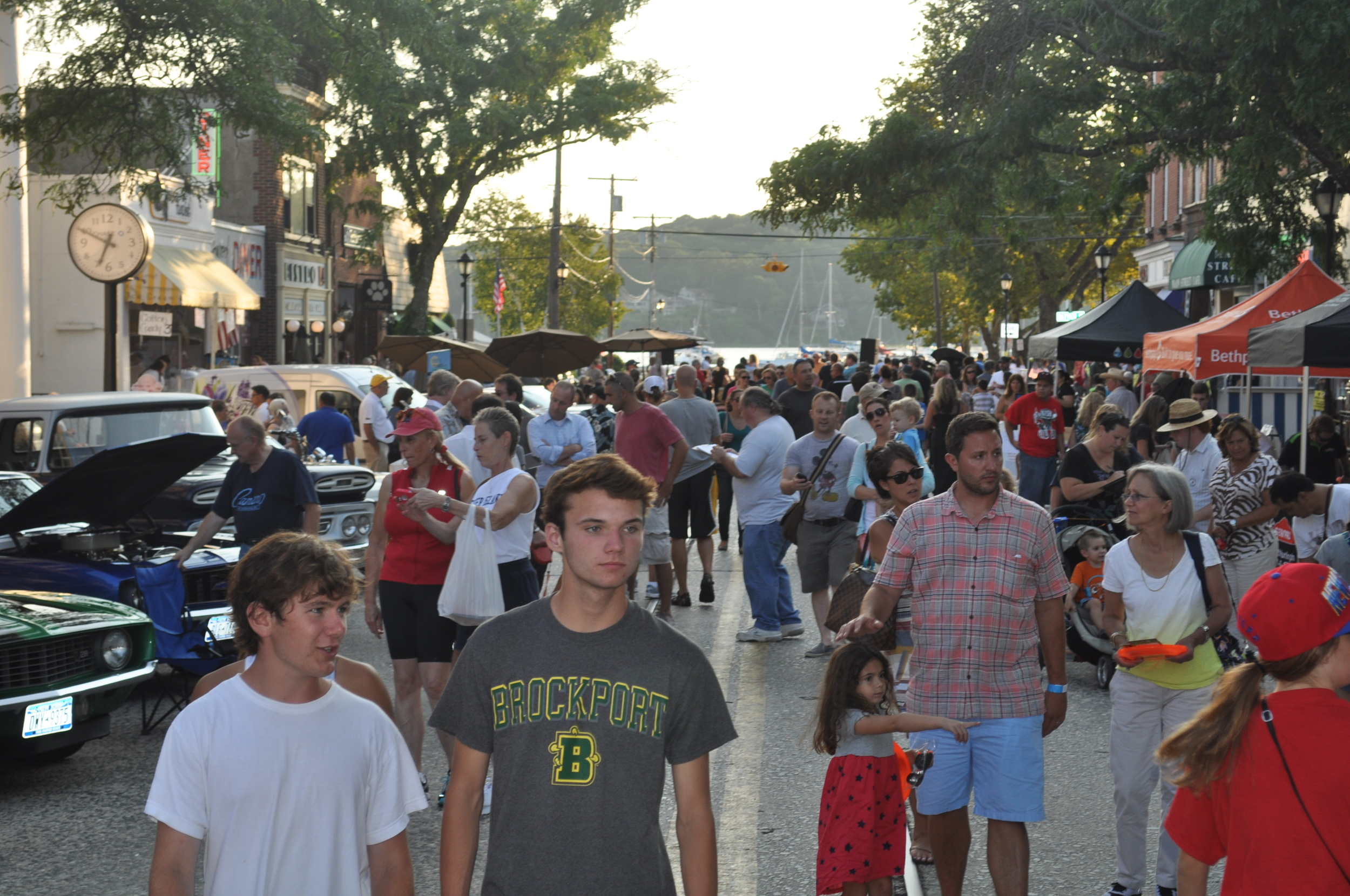 Clear skies meant thousands packing Northport Village's Main Street.