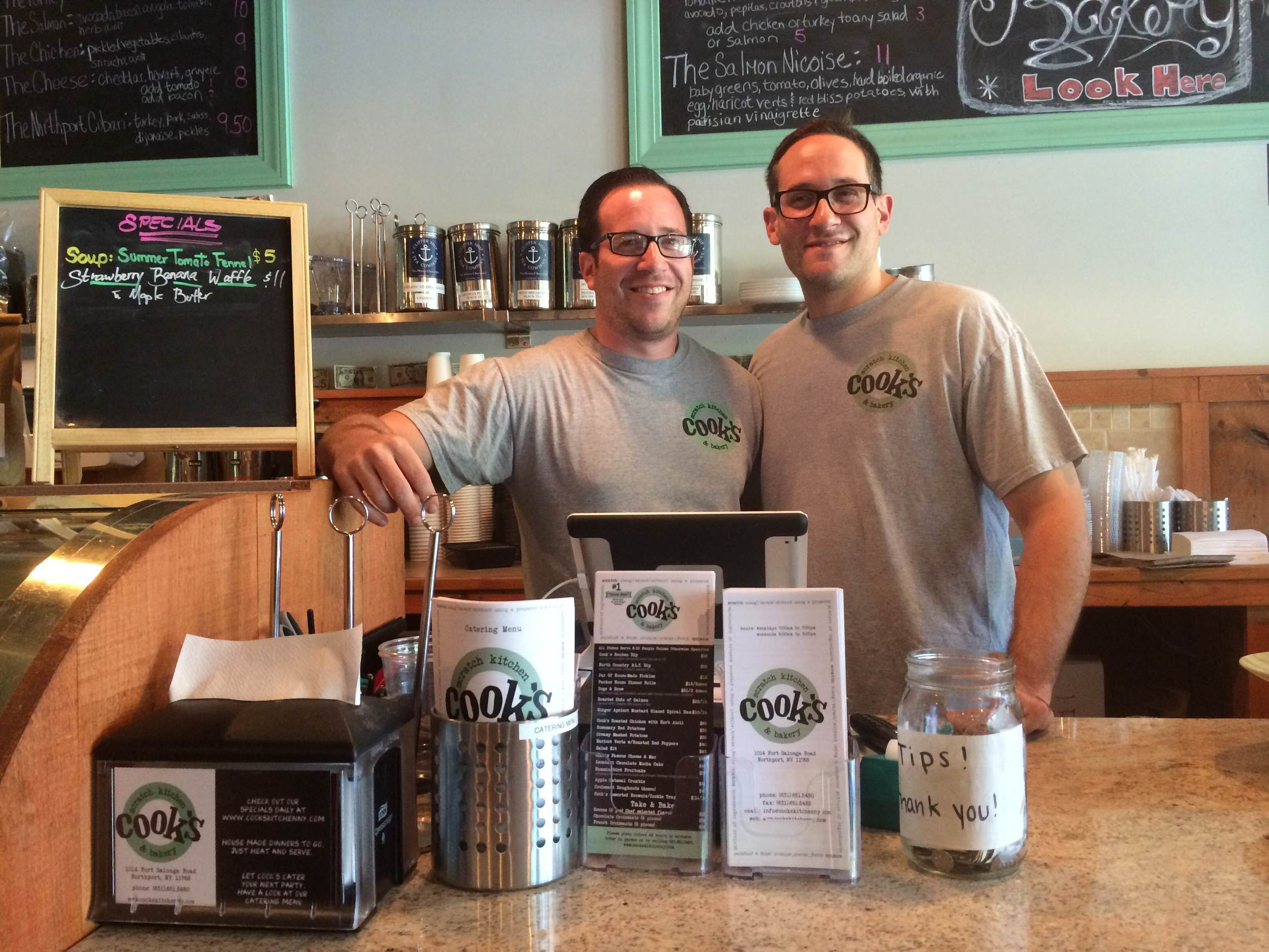 Brothers Josh and David Cook are bringing their business to Huntington's Book Revue next month.