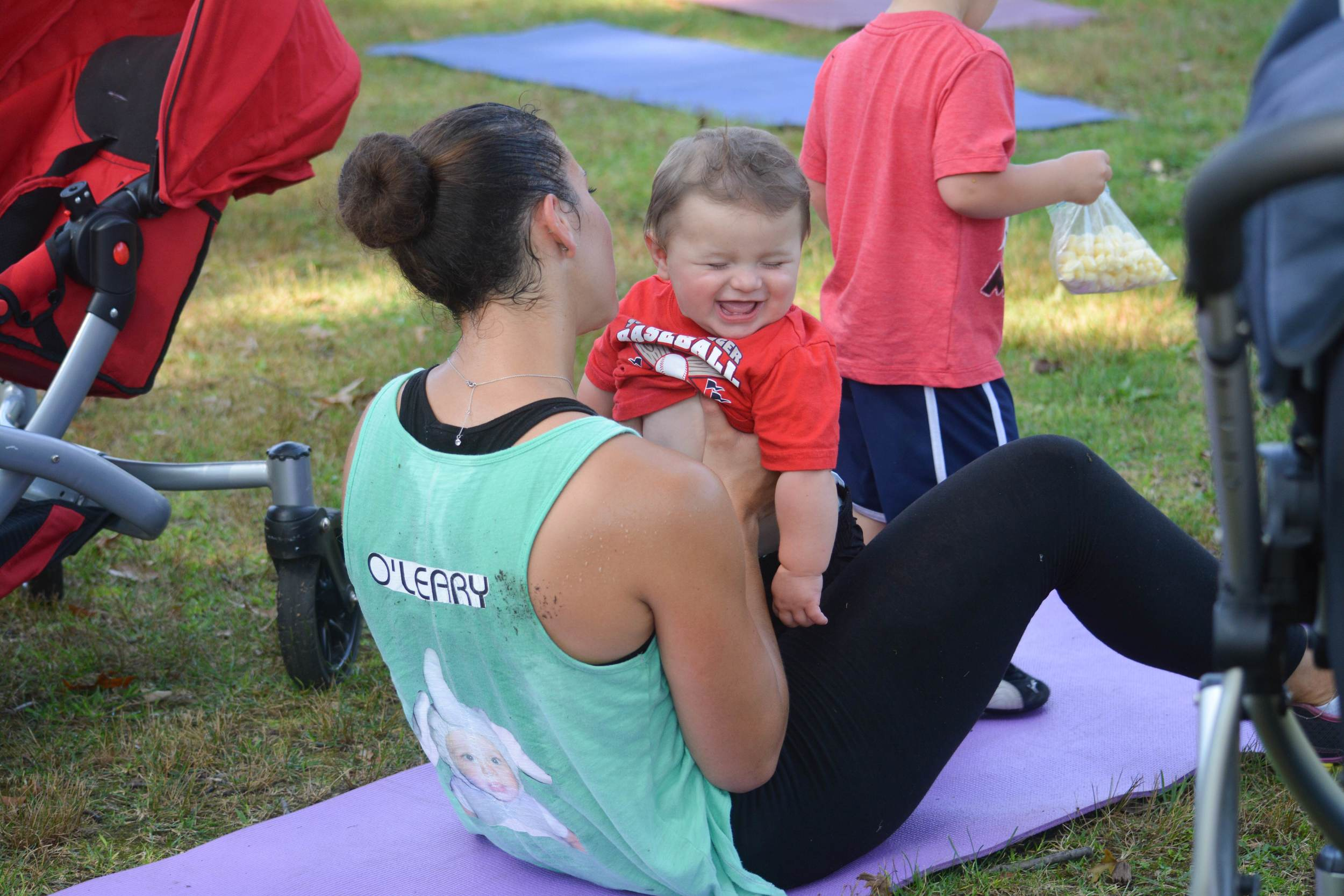 Fit4Mom offers a total-body workout for moms, alongside their children.