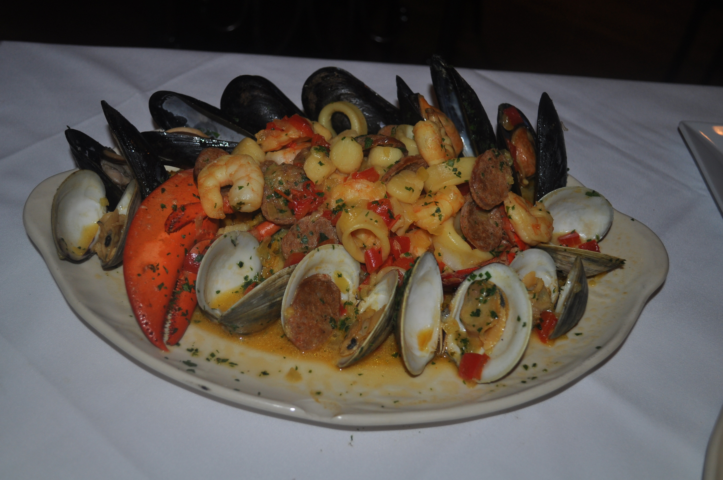 If you're in a surf mode, look no further than the abundant, delicious Portuguese paelha, completed with a half lobster.