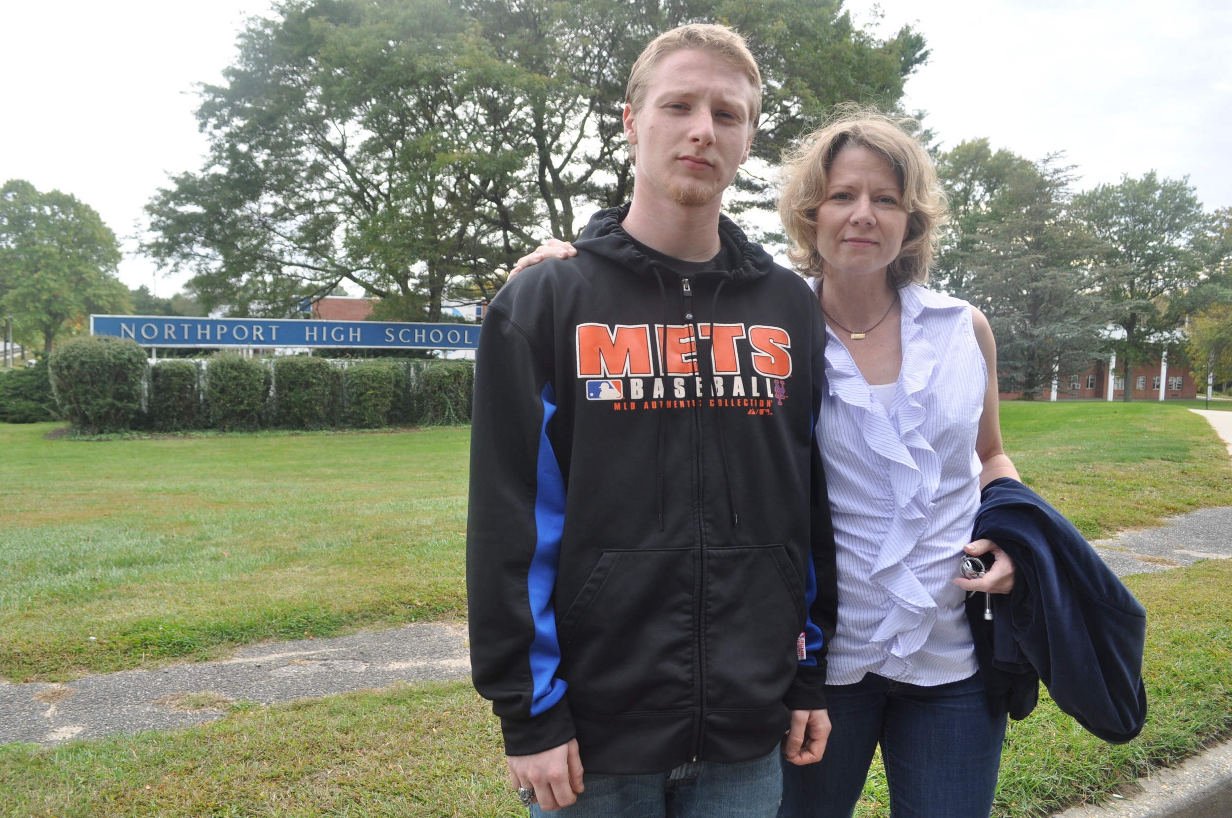 Mona Conway is suing the Northport-East Northport School district over allegations that the district denied her son, Kane Conway Goldgell, adequate special-education services at Northport High School.