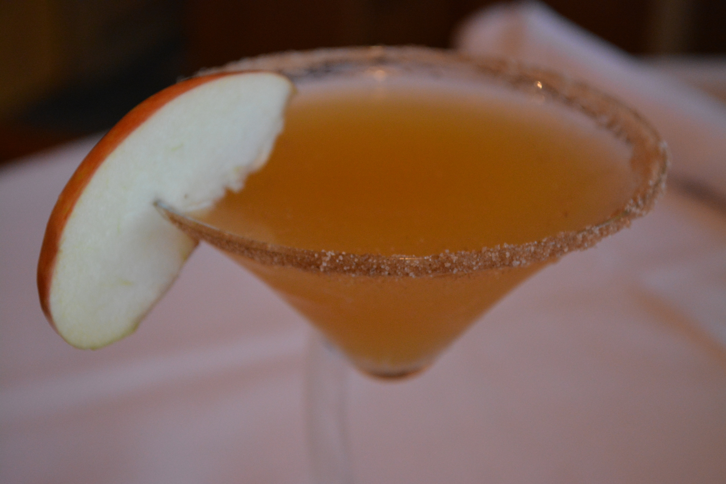 The Apple Cider Martini goes down easy and brims with autumn flair.