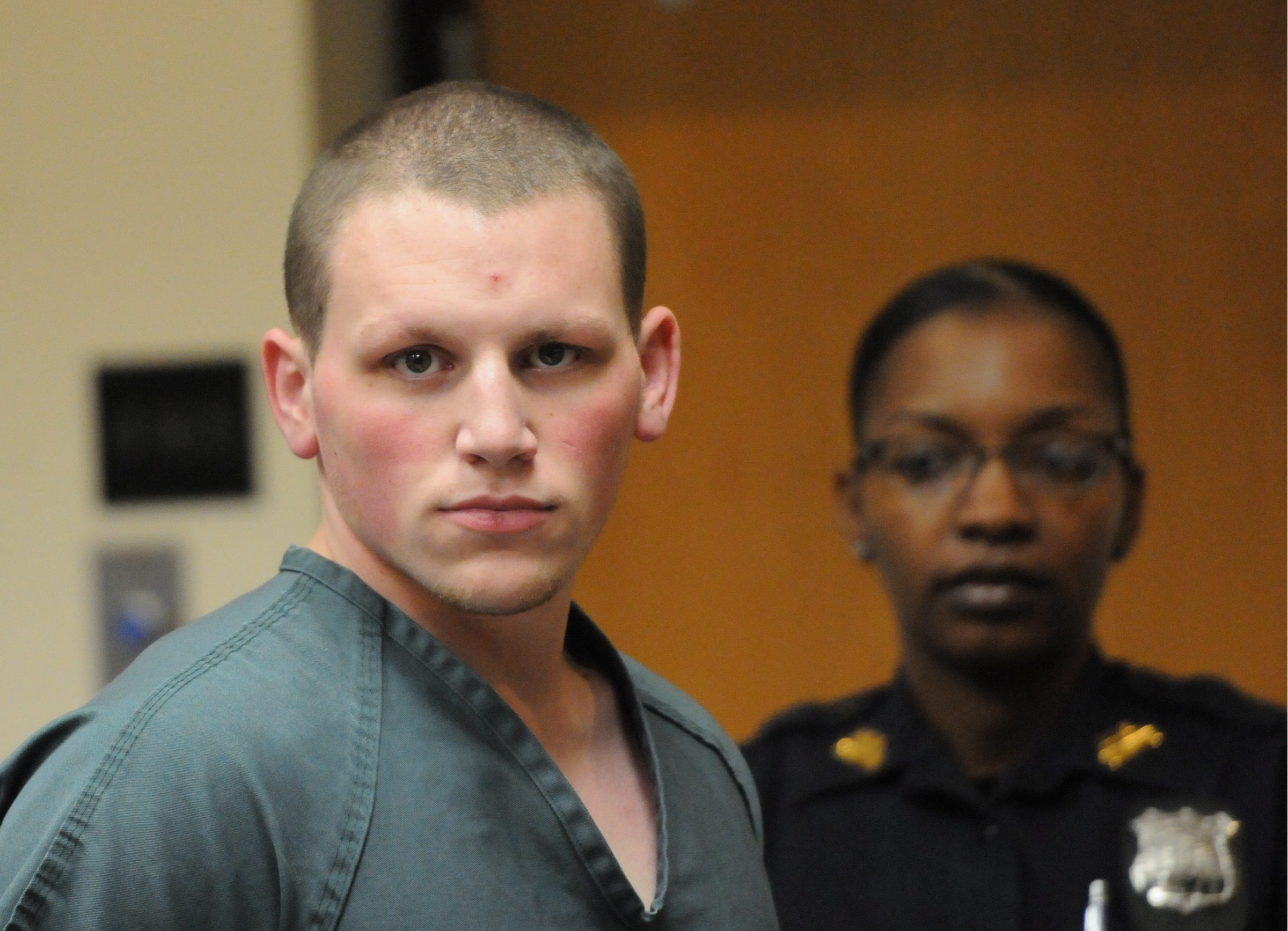 Adam Saalfield of Huntington Station maintains that he did not kill Maggie Rosales. (Photo/POOL/Newsday/James Carbone)