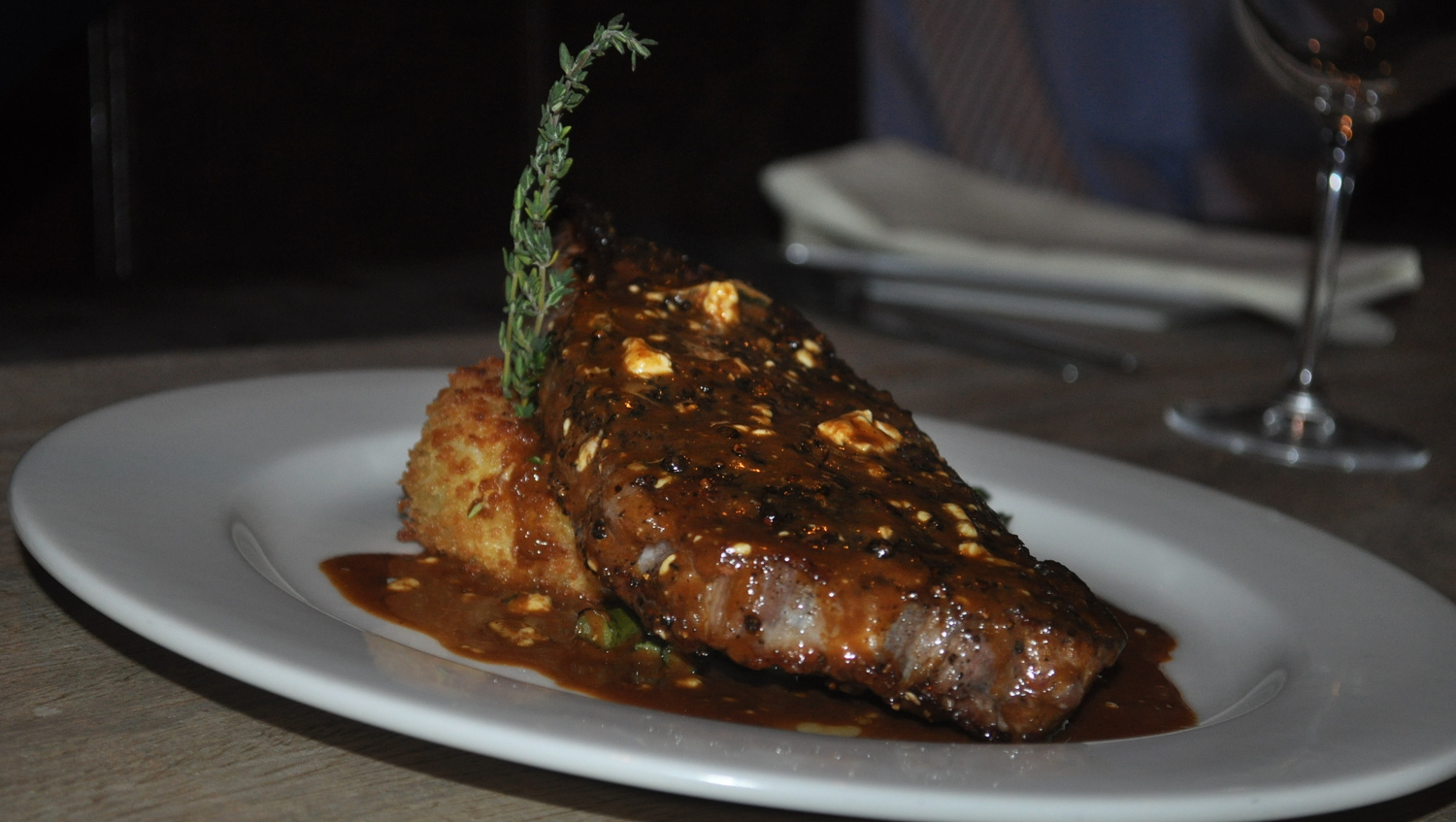 The 14 oz. Peppercorn Sirloin Fromage, from the new Chef's Steak Specialties selection of sirloins, brings zesty flare to the fore.