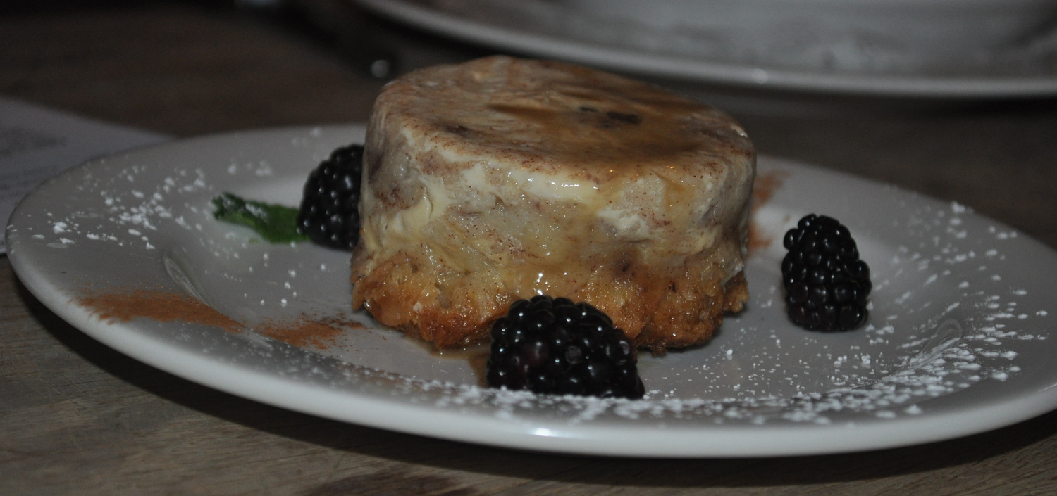 Warm and silky, bread pudding evokes a soothing aroma of cinnamon when you start digging in.