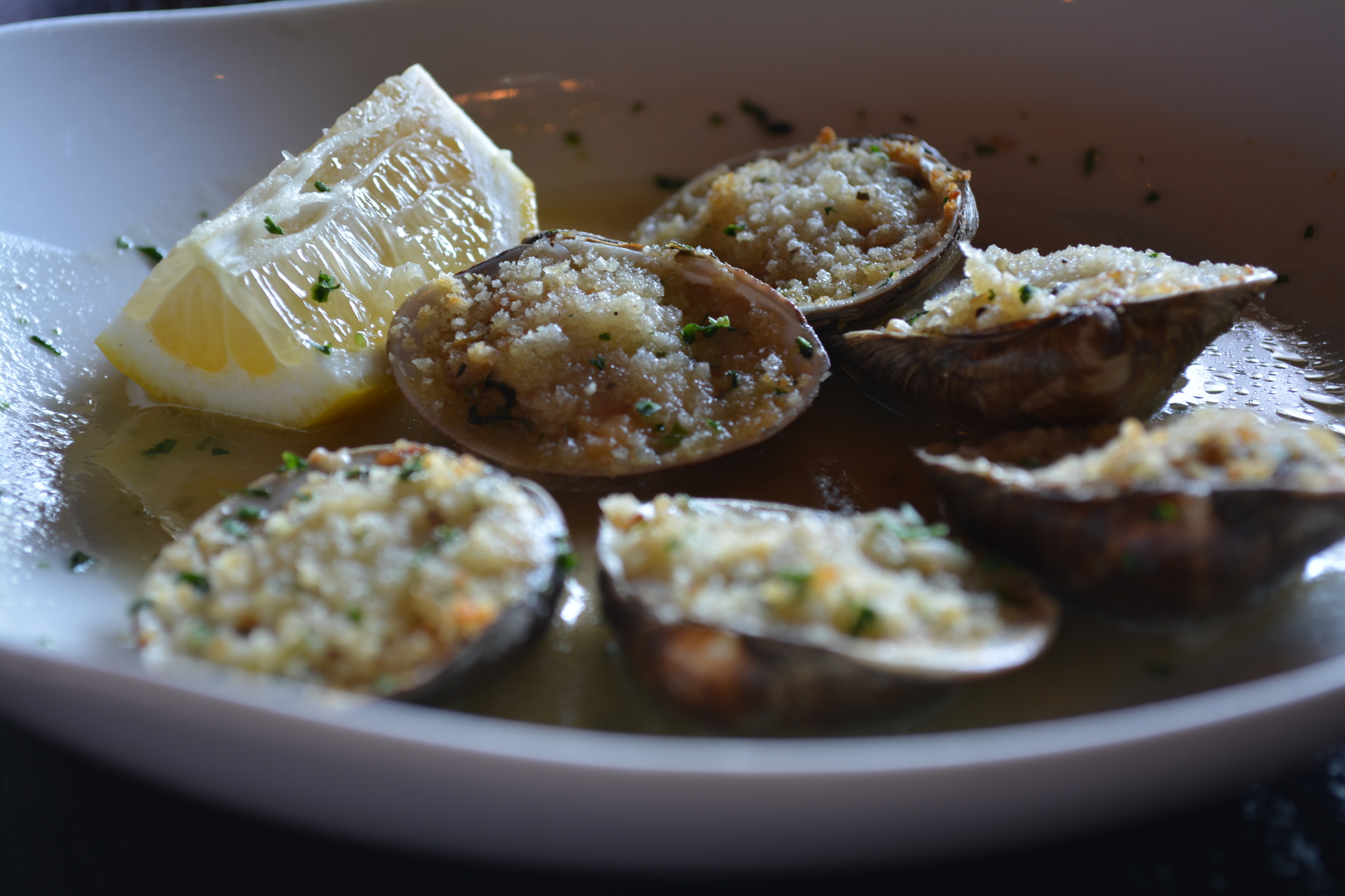 Clams al Doppio ($13) at Doppio Artisan Bistro (24 Clinton Ave., Huntington, 631-923-1515, doppiohuntington.com)  Long Islander News photo/ Arielle Dollinger