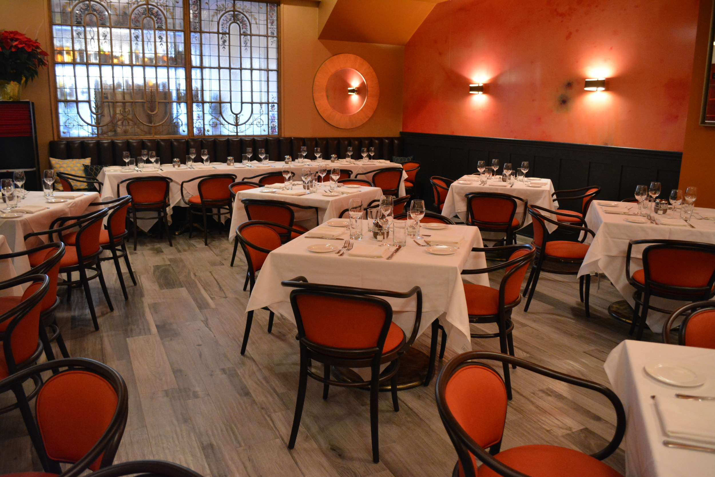 The dining room at Red Restaurant has been completely redone in the wake of a March 1 fire.