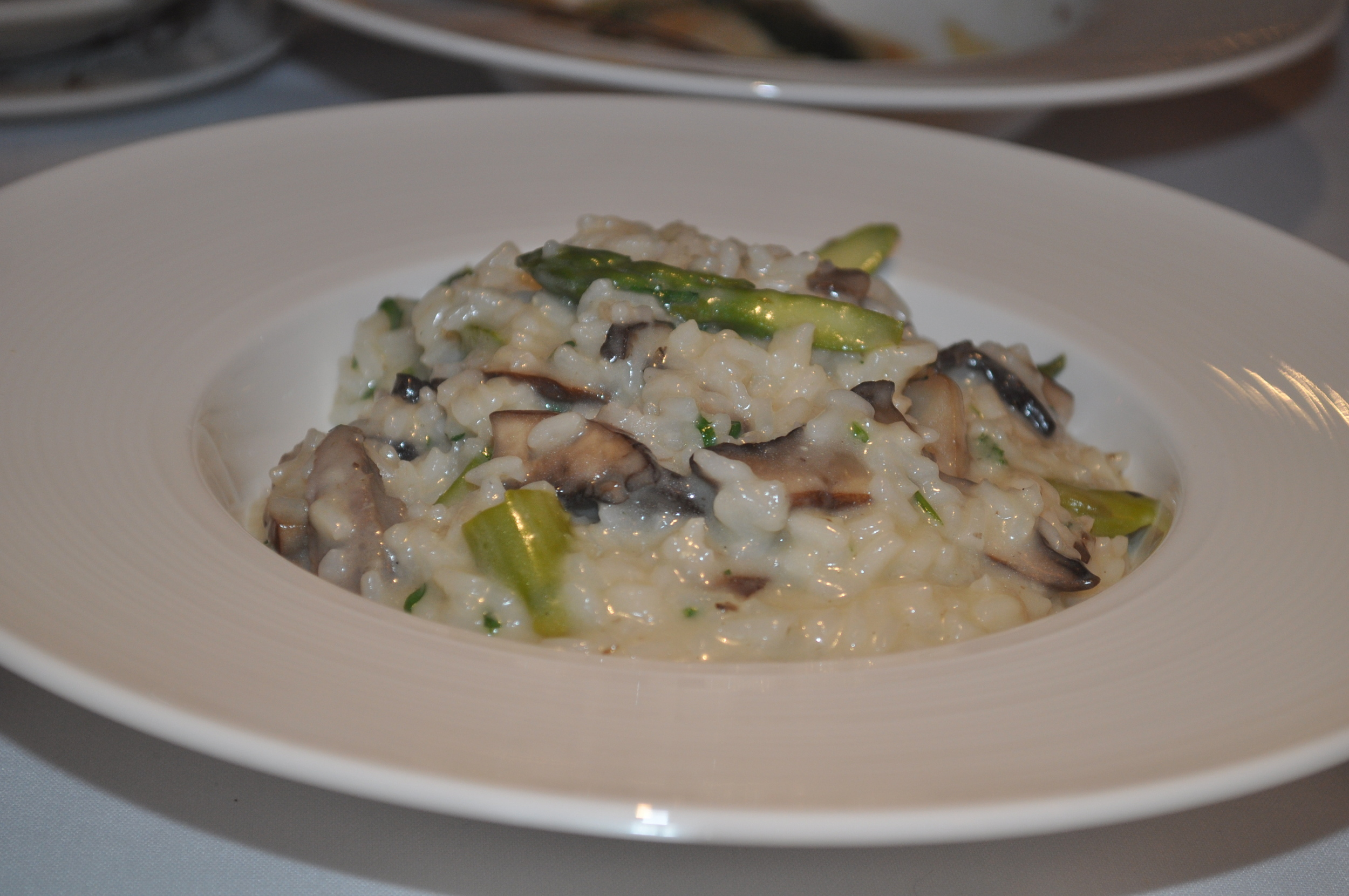 Tito puts a new spin on a classic mushroom risotto with duck sausage.