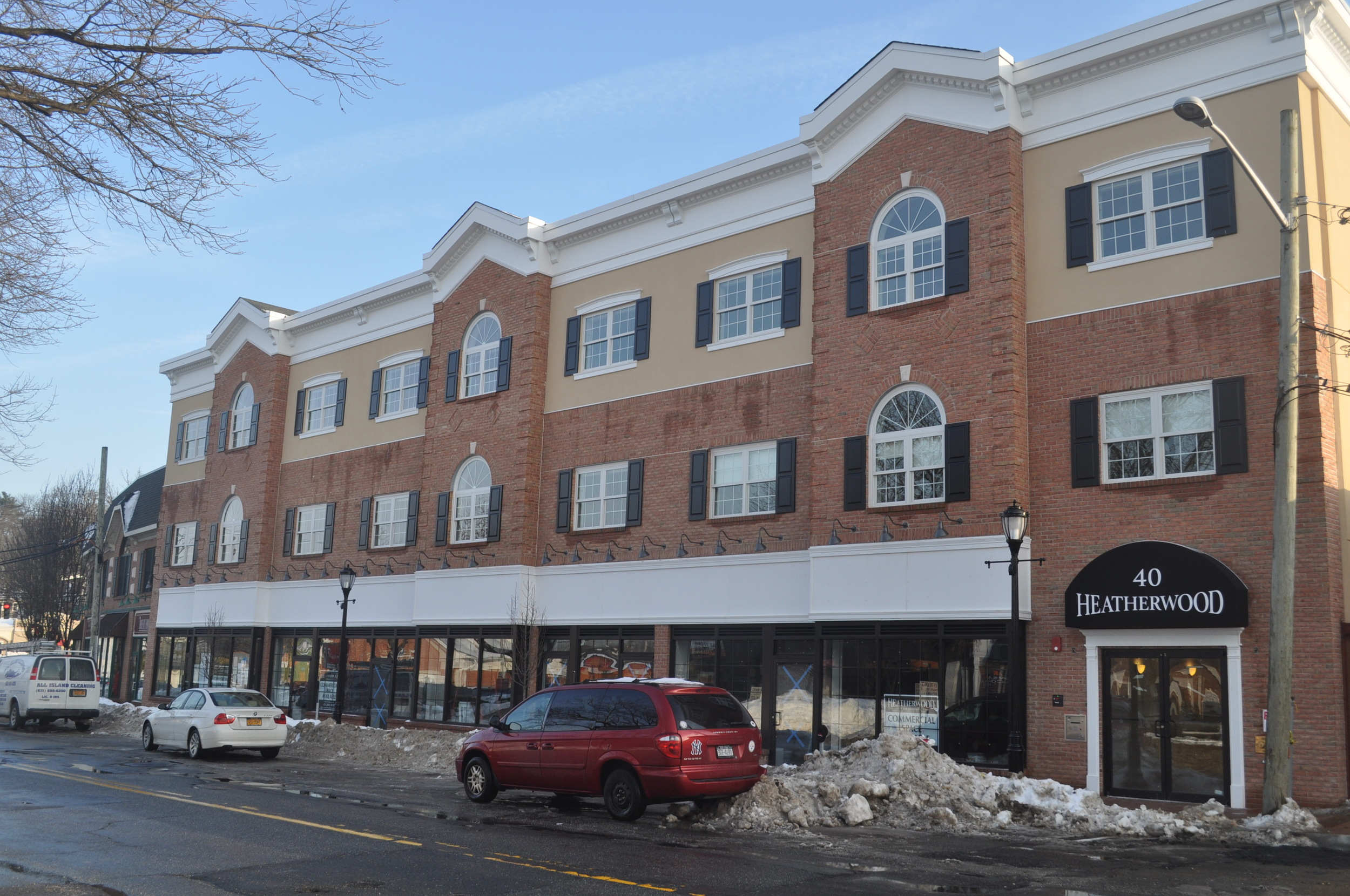 Shortly after going on the market Feb. 1, three of 10 luxury apartments at the Heatherwood Communities' mixed-use Gerard Street complex have been claimed, company officials said. (Long Islander News photo/Danny Schrafel)