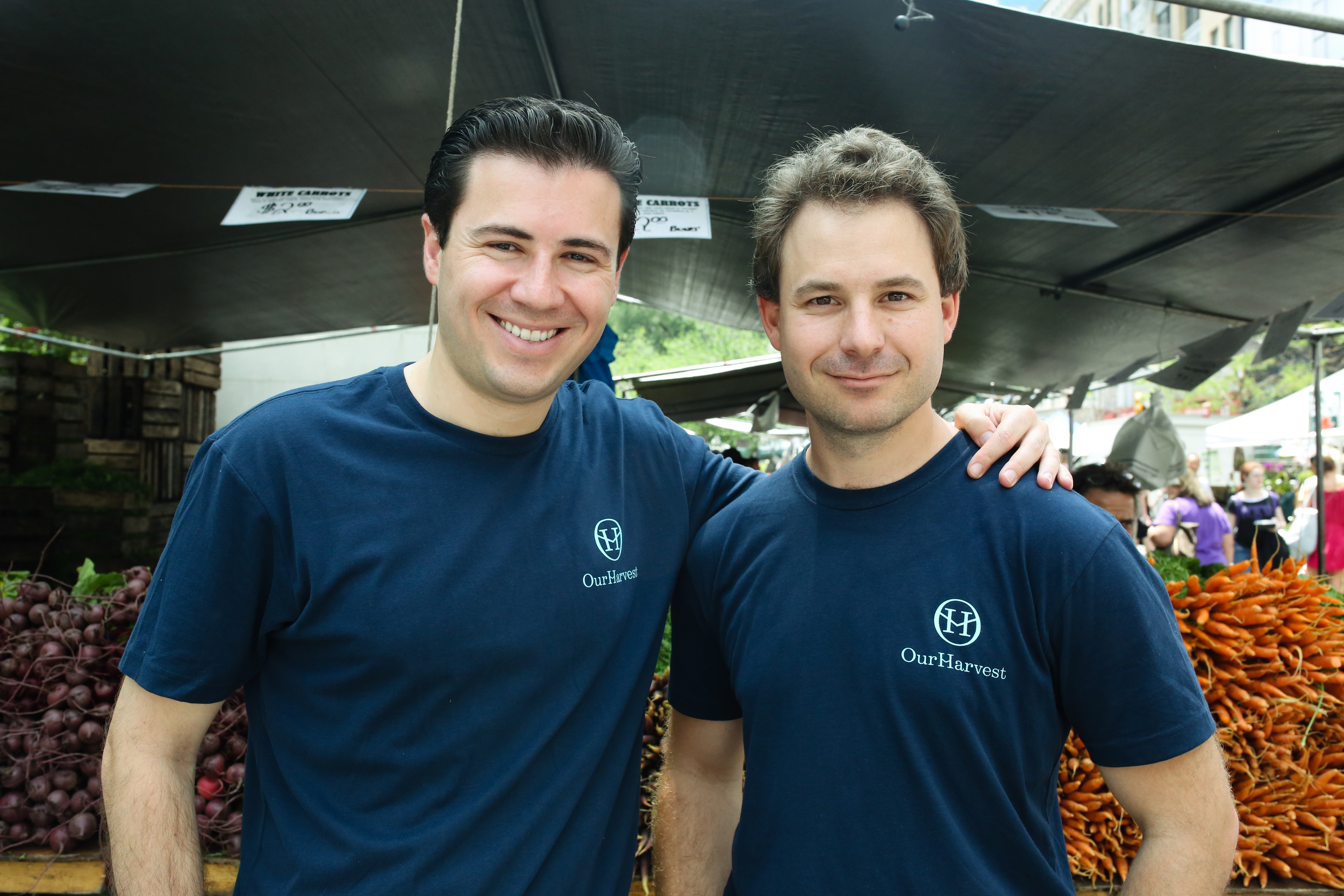 Co-founders of OurHarvest, Scott Reich, left, and Michael Winik.