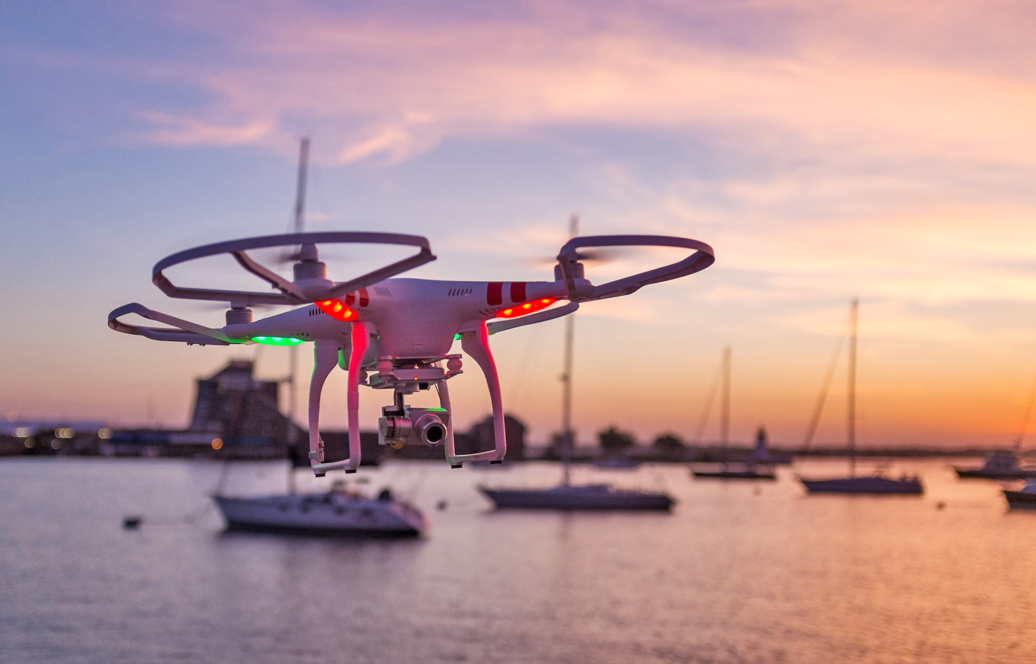 The Phantom 2 Vision+ flying camera, pictured, has been the source of several scenic web videos of the Northport landscape filmed by East Northport resident Dave Tuohy over the last several months.