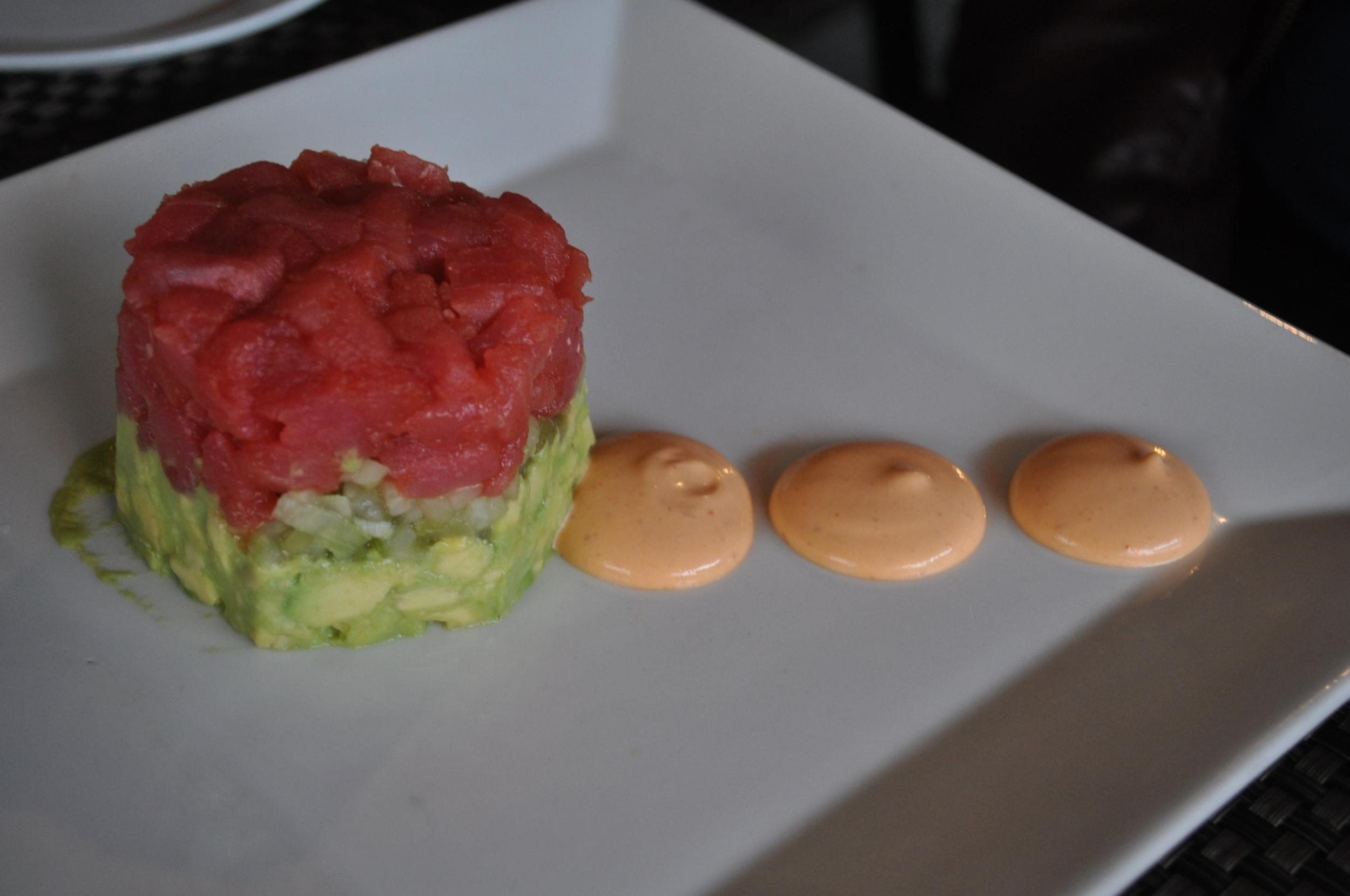 Elegant and delicious, ahi tuna tartare features ever-popular Sriacha.