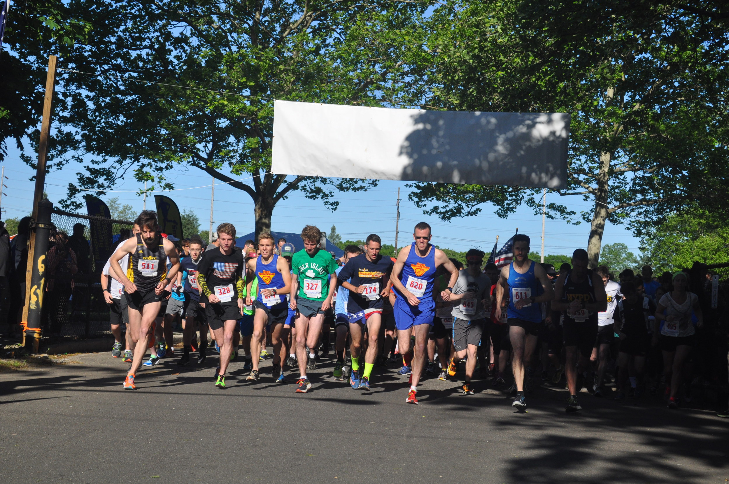 And they're off! A total of 1,378 participated in the Scherer run's three races on Saturday morning.