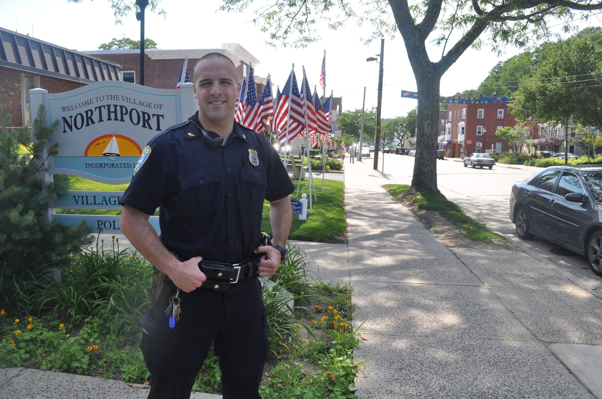 Northport PD's newest addition, Officer Matthew Merenda, has been on the beat for two weeks after graduating Suffolk County Police Academy.