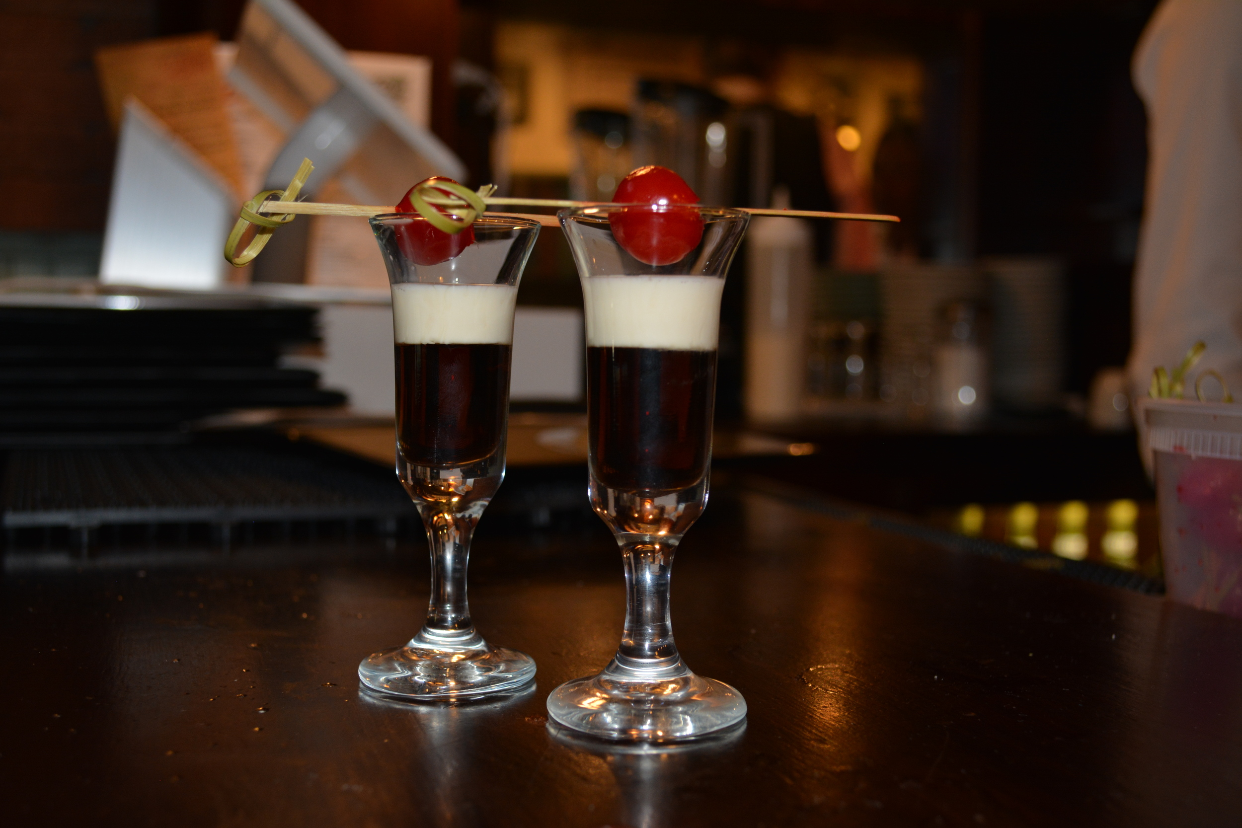 """Every adult is offered an after-dinner drink called """"Don Cellita,"""" or angel kiss, which consists of Creme de Cacao, evaporated milk and a cherry."""