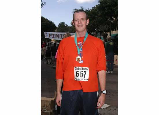 Chris Boundy, a Commack Middle School social studies teacher, is nearing completion of his mission to run a marathon in all 50 states as a fundraising effort for sick children.