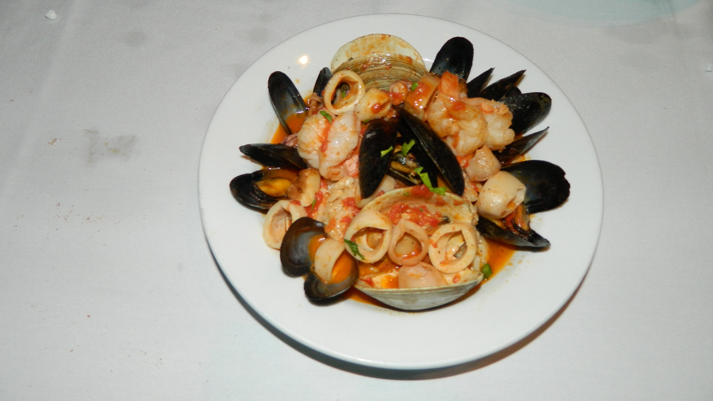 The seafood risotto is among the prime entrees at Andrea's 25.