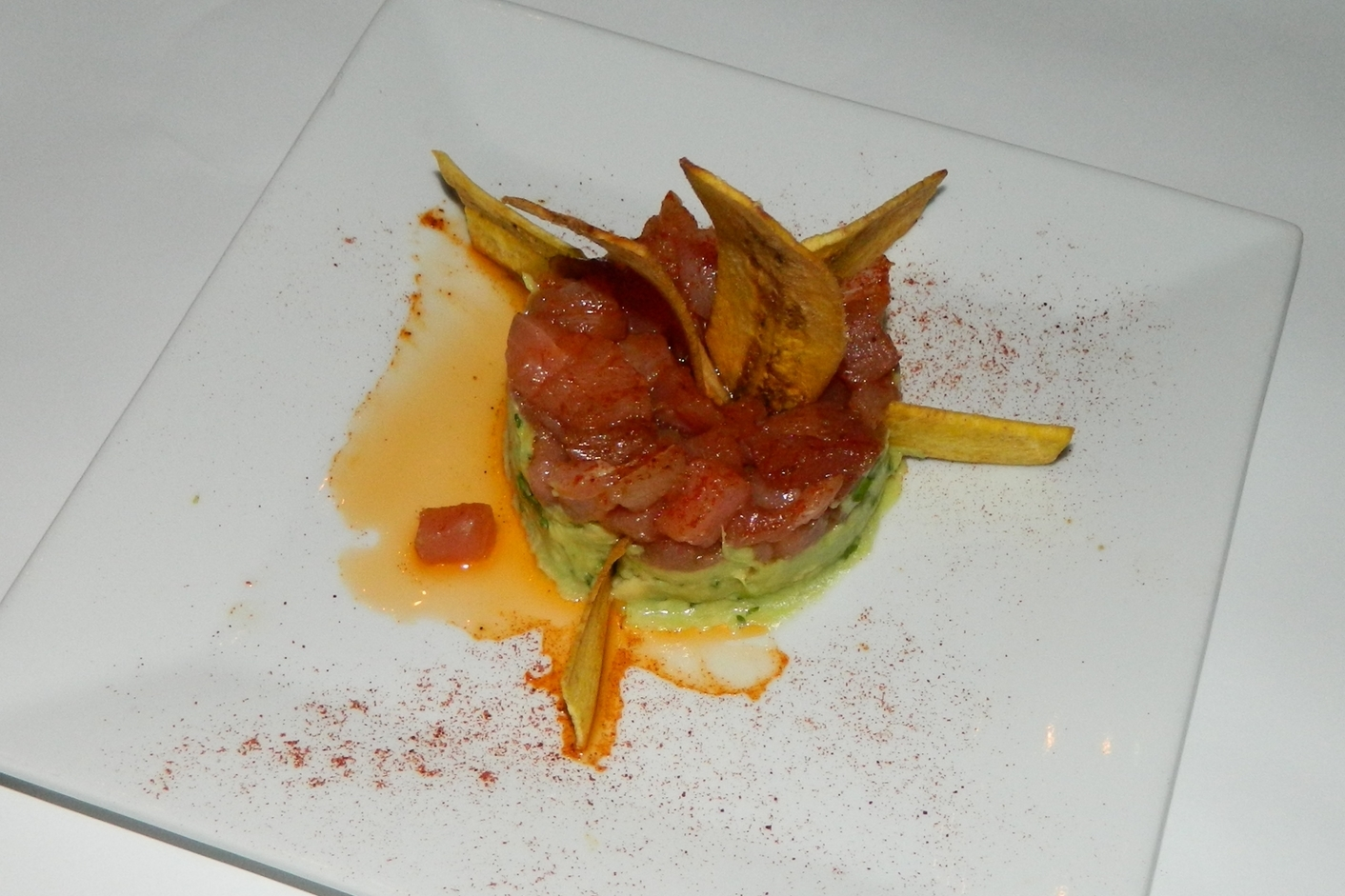 Pictured: Ahi tuna tartare.