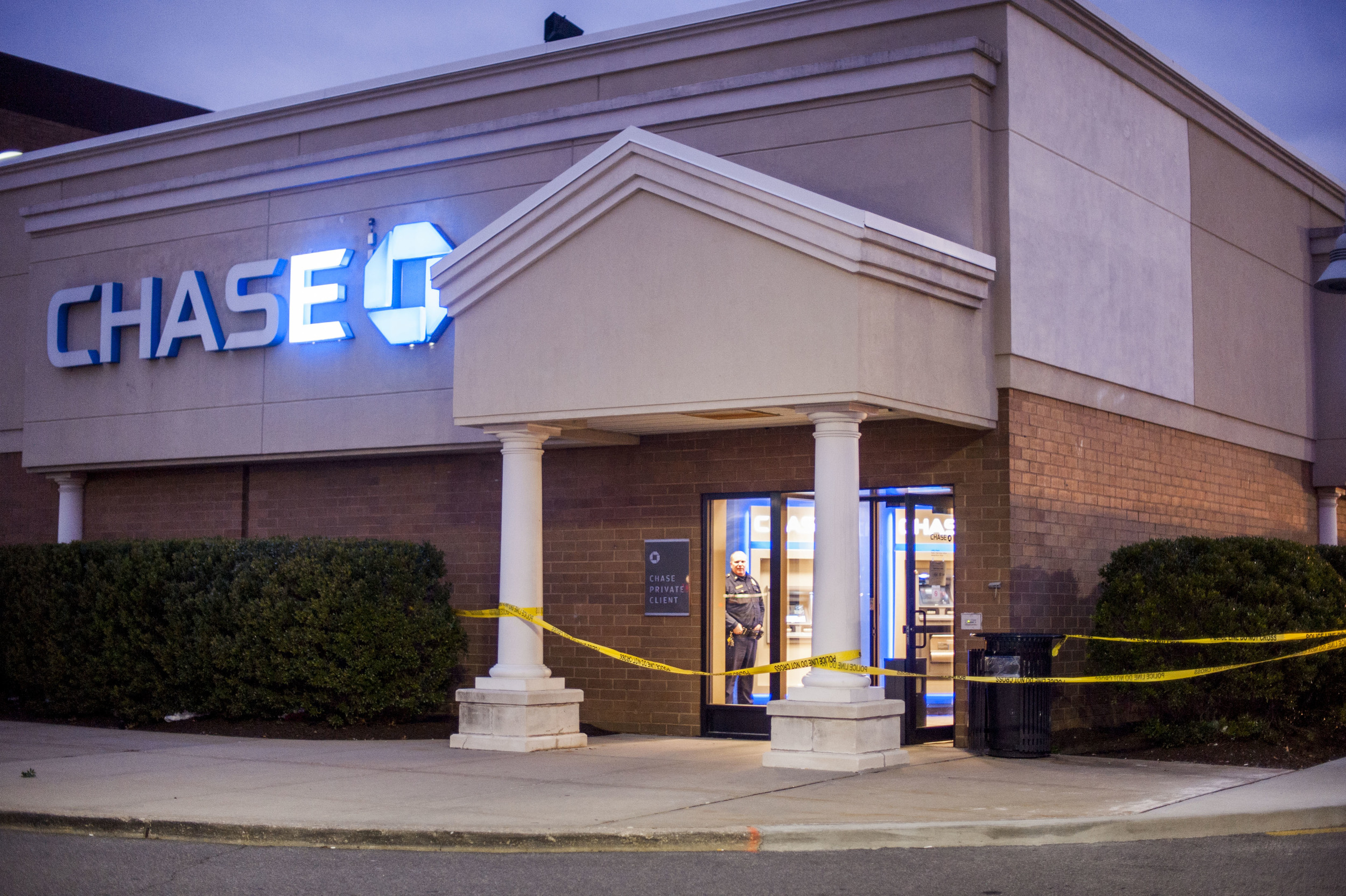 Police responded to a robbery around 2:37 p.m. at Chase bank at 17 Huntington Square in Elwood on Jan. 14. The suspect fled on foot and was described as 30 to 40 years old, between 5-foot-6 and 5-foot-8 and was wearing a black mask, a gray hooded jacket and jeans.