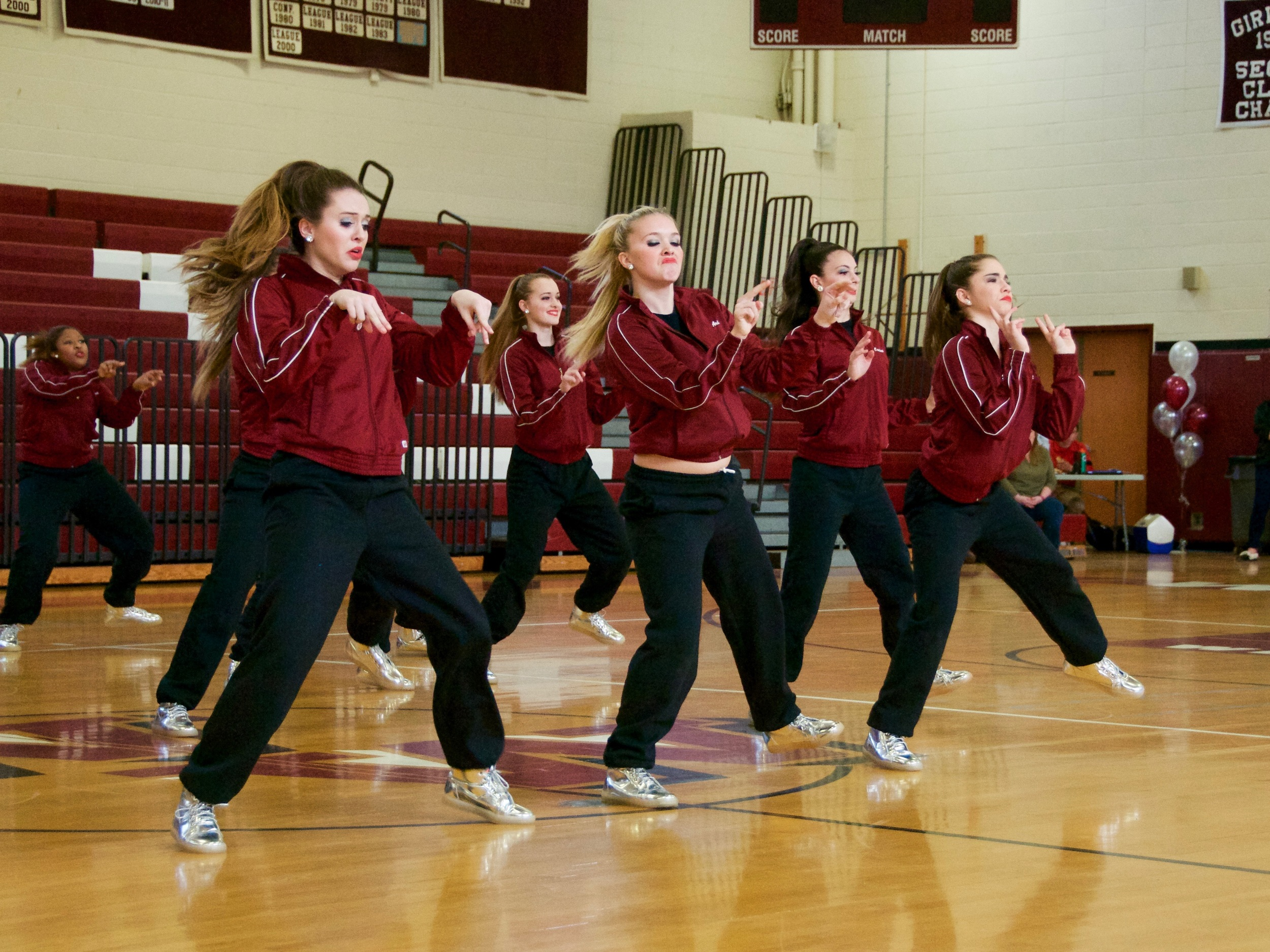 Members of Whitman High School's large varsity hip hop group pose with their NDA awards.