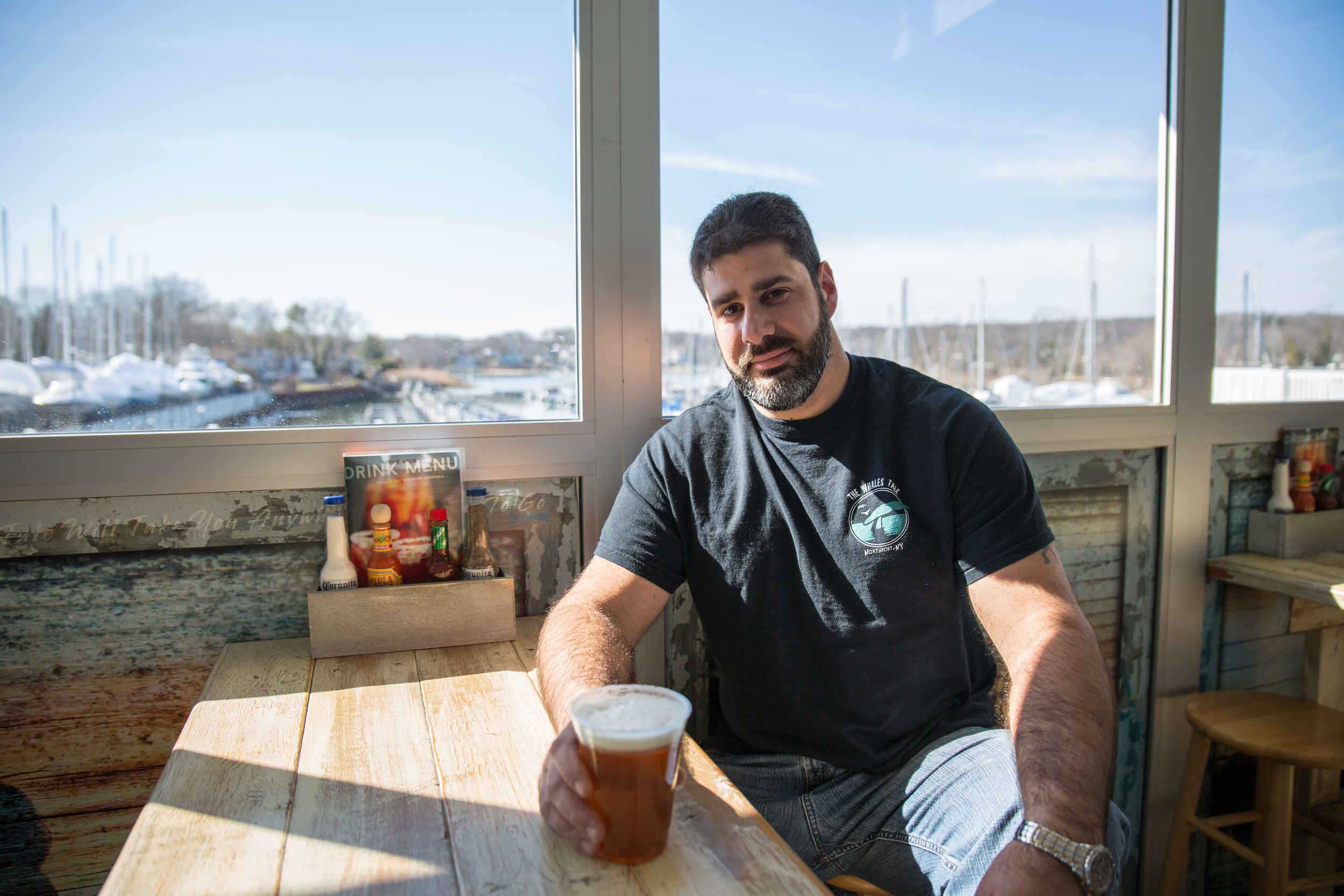 Whales Tale owner Sosh Andriano recently got approval to build Harbor Head brewery next door to his Fort Salonga Road restaurant in the Britannia Yachting Center.
