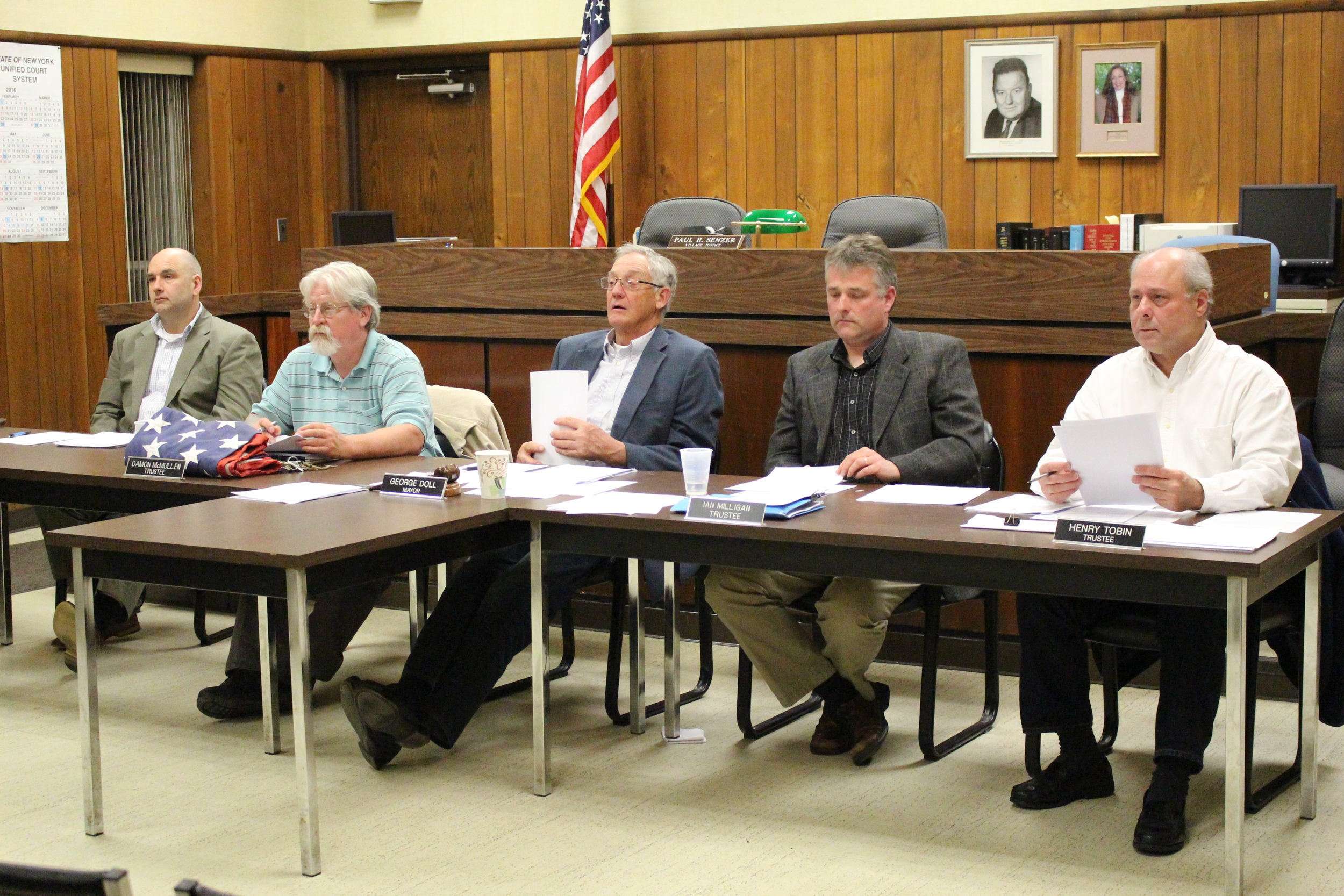 Northport Village trustees planned to bond $4 million for sanitary sewer system improvements, including consolidation of the Woodbine Avenue sewer force main with a new shoreline sewer pipe.