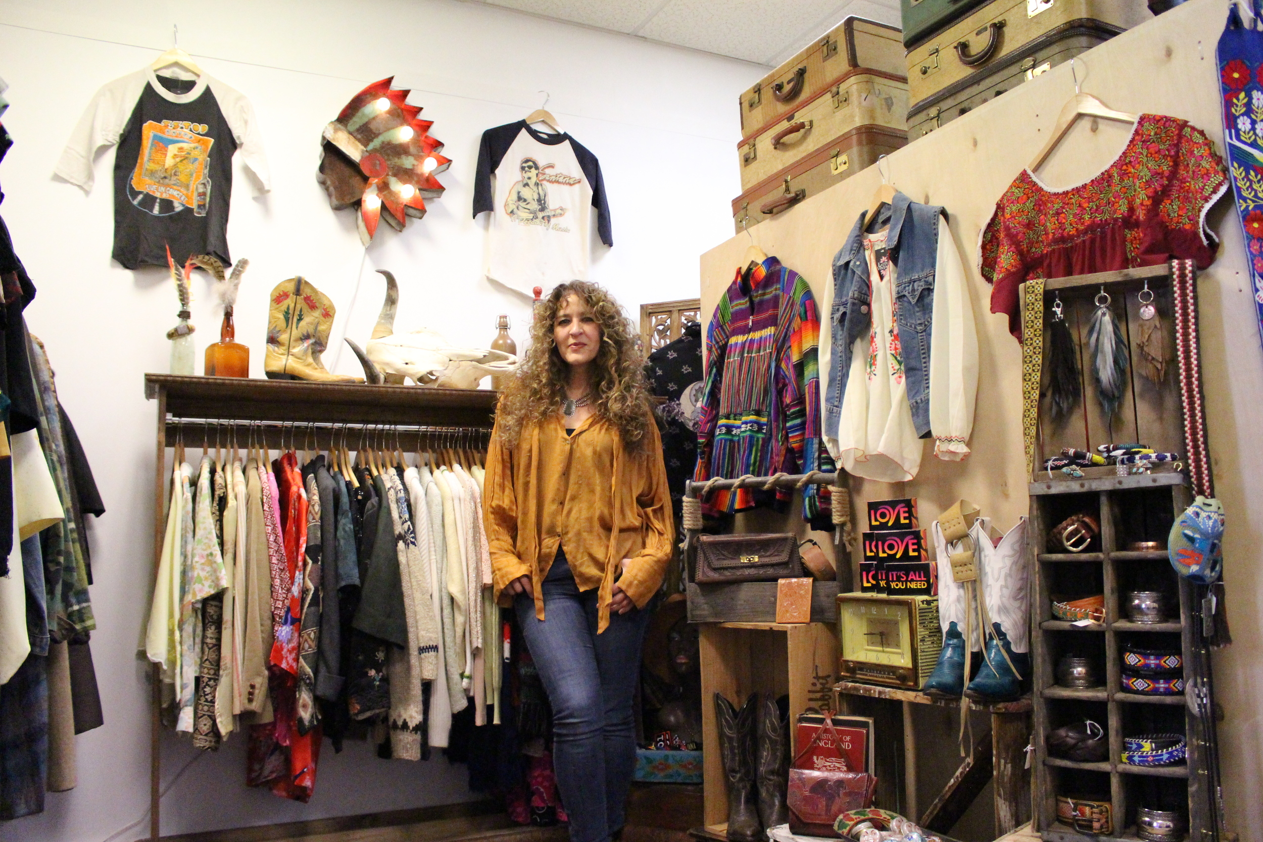"""Lotus Vintage owner Adriene Passannante has turned her passion for collecting vintage clothing into her """"main source"""" of making a living as she sells """"fashion history."""""""