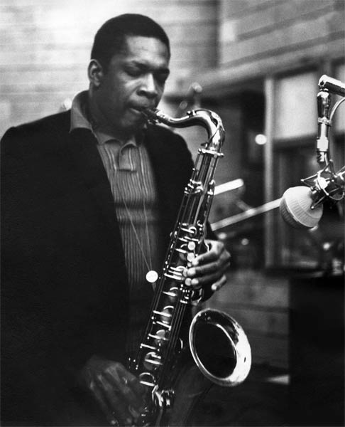 """Legendary jazz musician John Coltrane, above, composed """"A Love Supreme,"""" inset, in his Dix Hills home in 1964. Earlier this month, the song was named to the Library of Congress' 2015 National Recording Registry."""