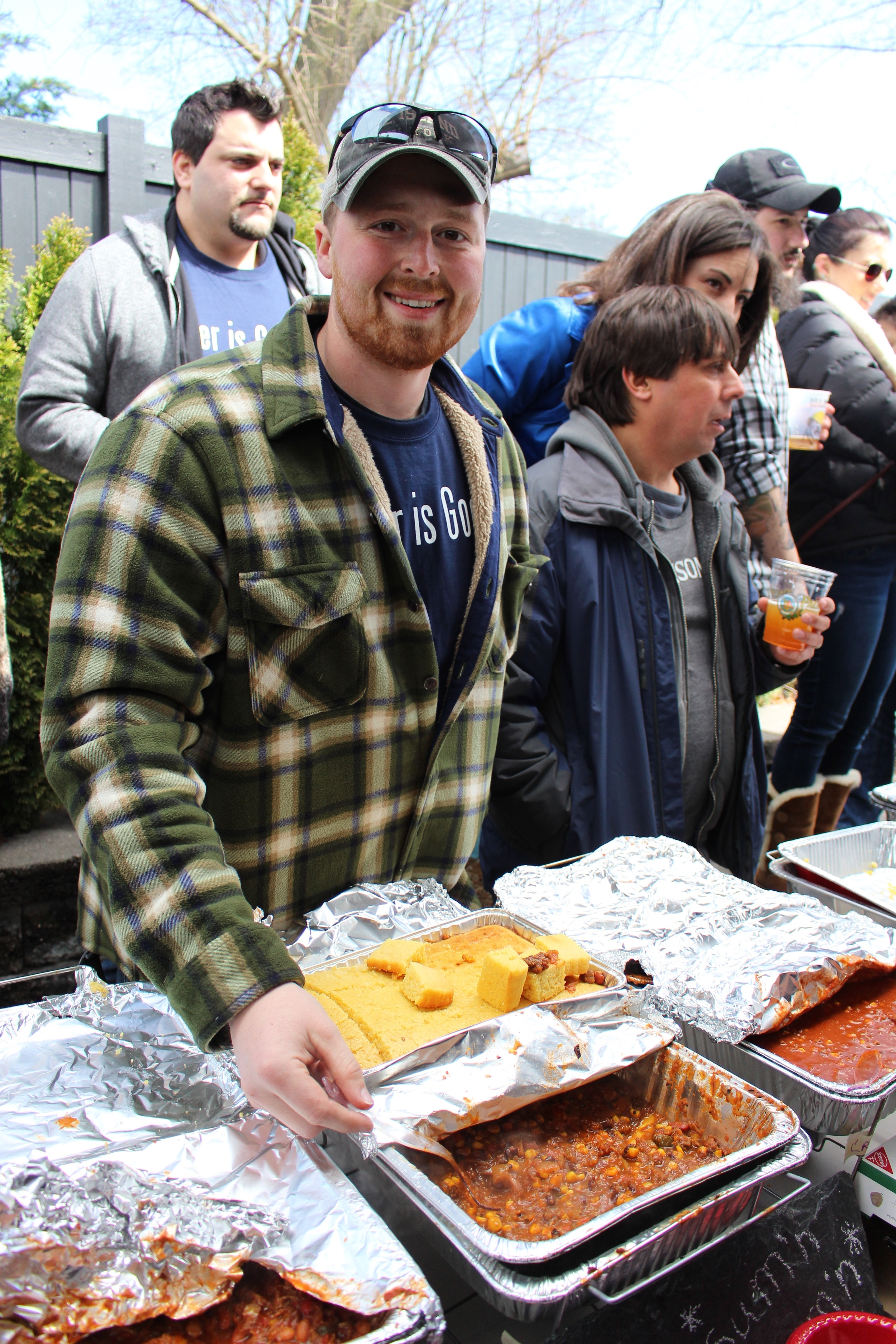 """Returning chili champion Dylan Latchford, of East Northport, said that his """"Lil BBQ: sum'n sum'n"""" includes smoked meat and a bunch of grilled vegetables."""