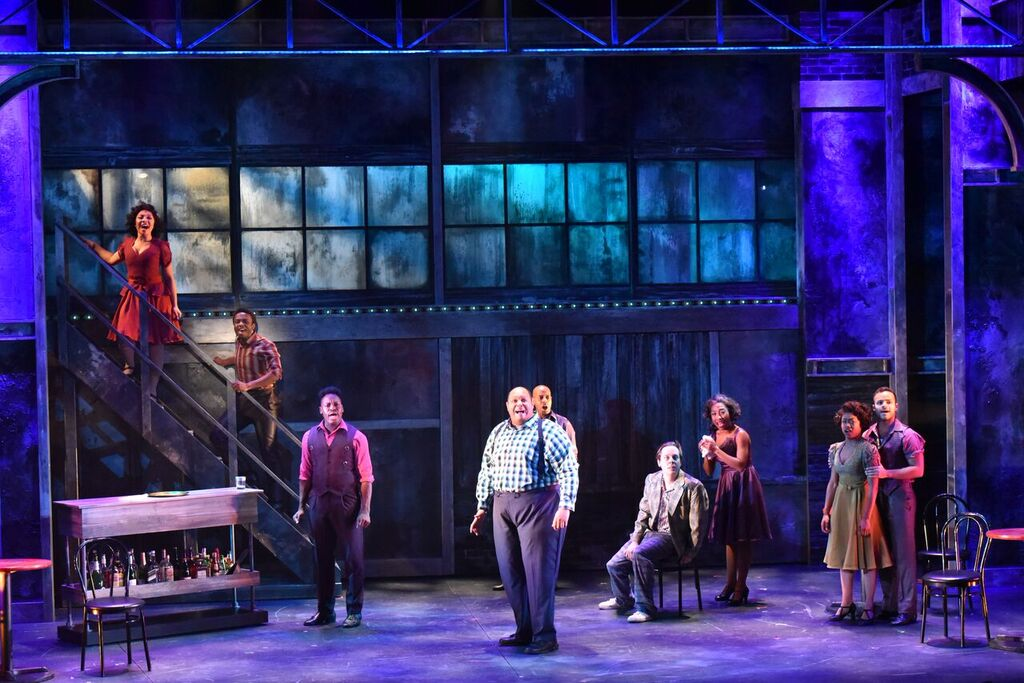 """The cast of """"Memphis"""" lights up the stage at the John W. Engeman Theater in Northport. Here, the cast performs """"Memphis Lives in Me."""""""