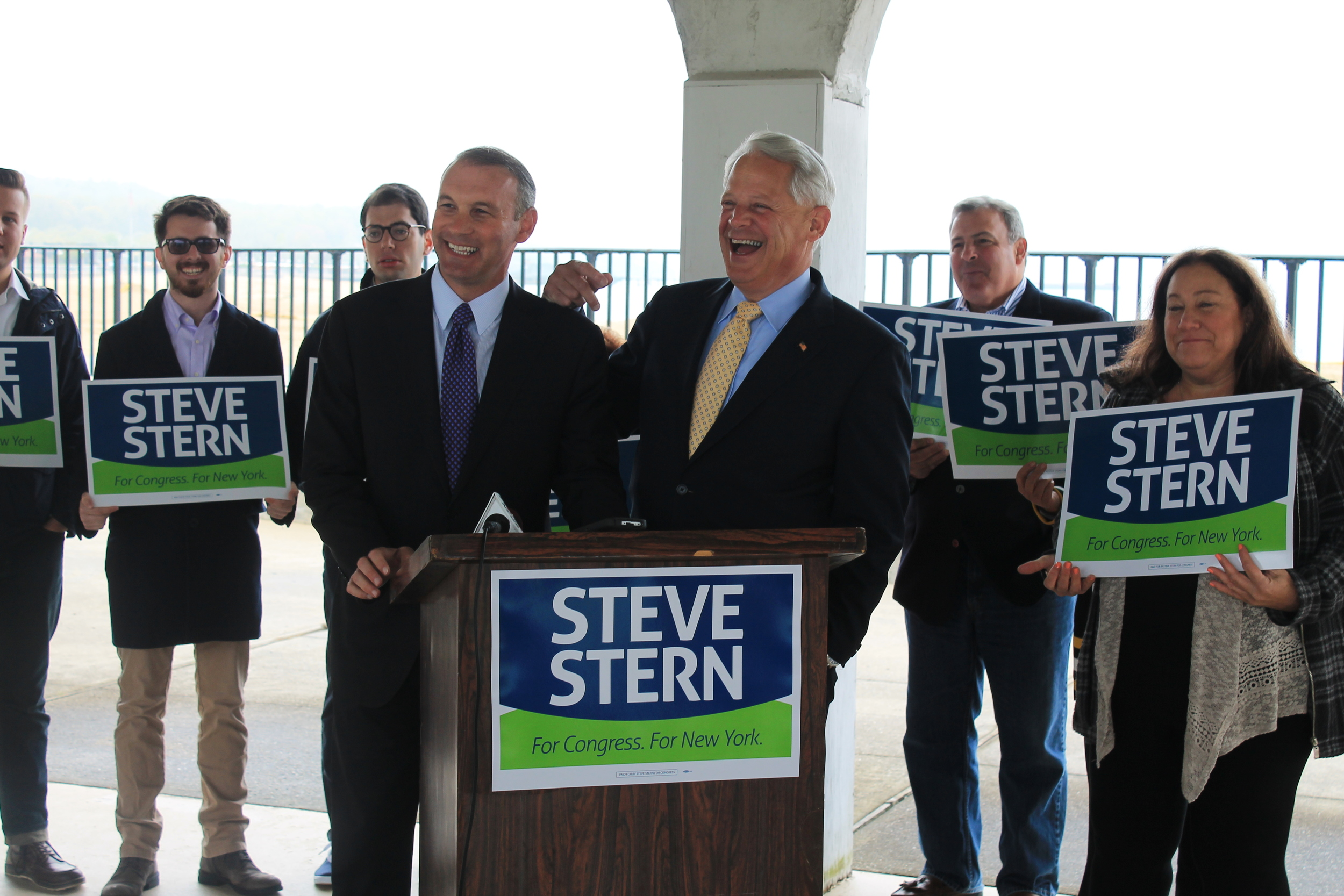 Congressman Steve Israel (D-Huntington), right, last week backed Suffolk County Legislator Steve Stern (D-Dix Hills), left, in his quest to fill the Third District seat.